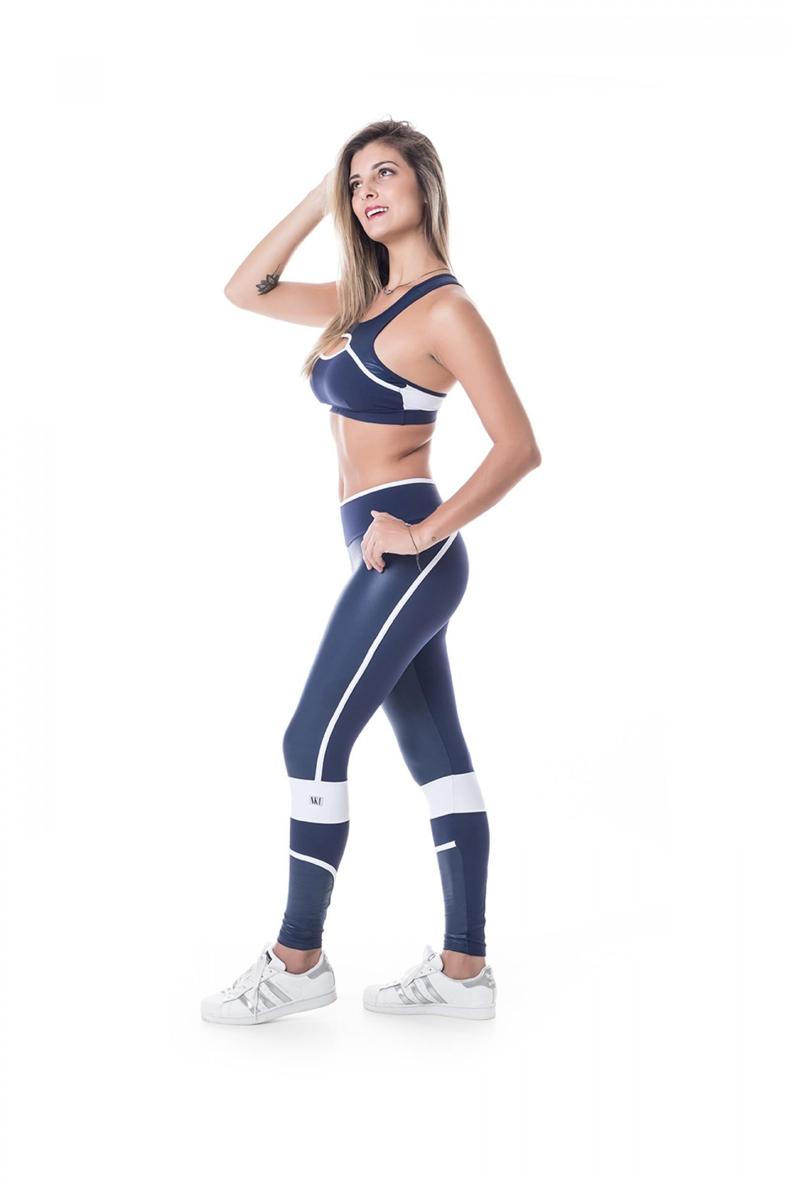 Legging Brave Marinho, Coleção Challenge - NKT Fitwear Moda Fitness