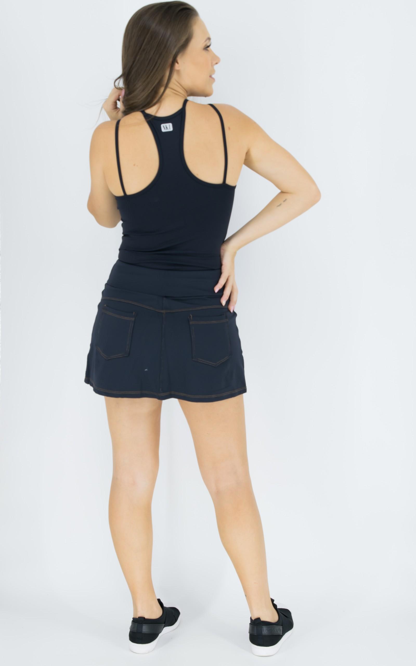 Regata Life Preta, Coleção Move Your Body - NKT Fitwear Moda Fitness