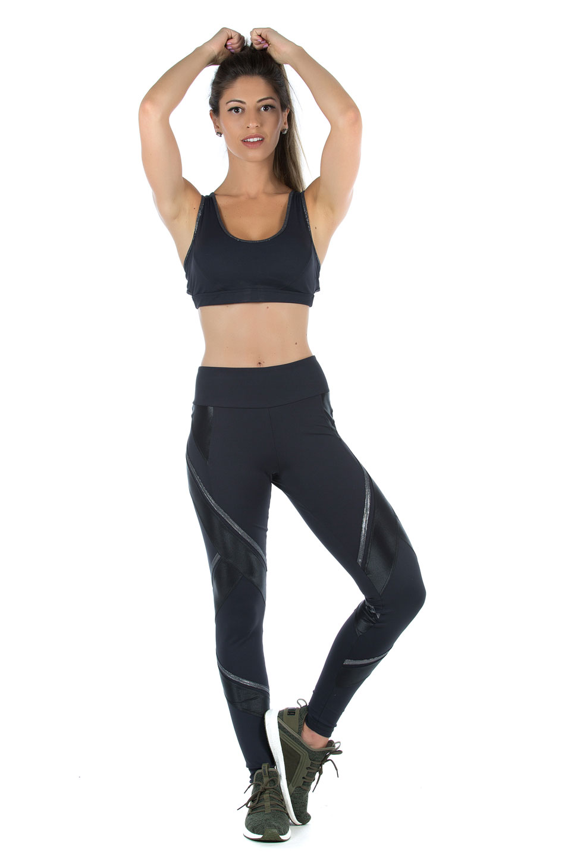 Top Power Full Prata, Coleção Mulheres Reais - NKT Fitwear Moda Fitness