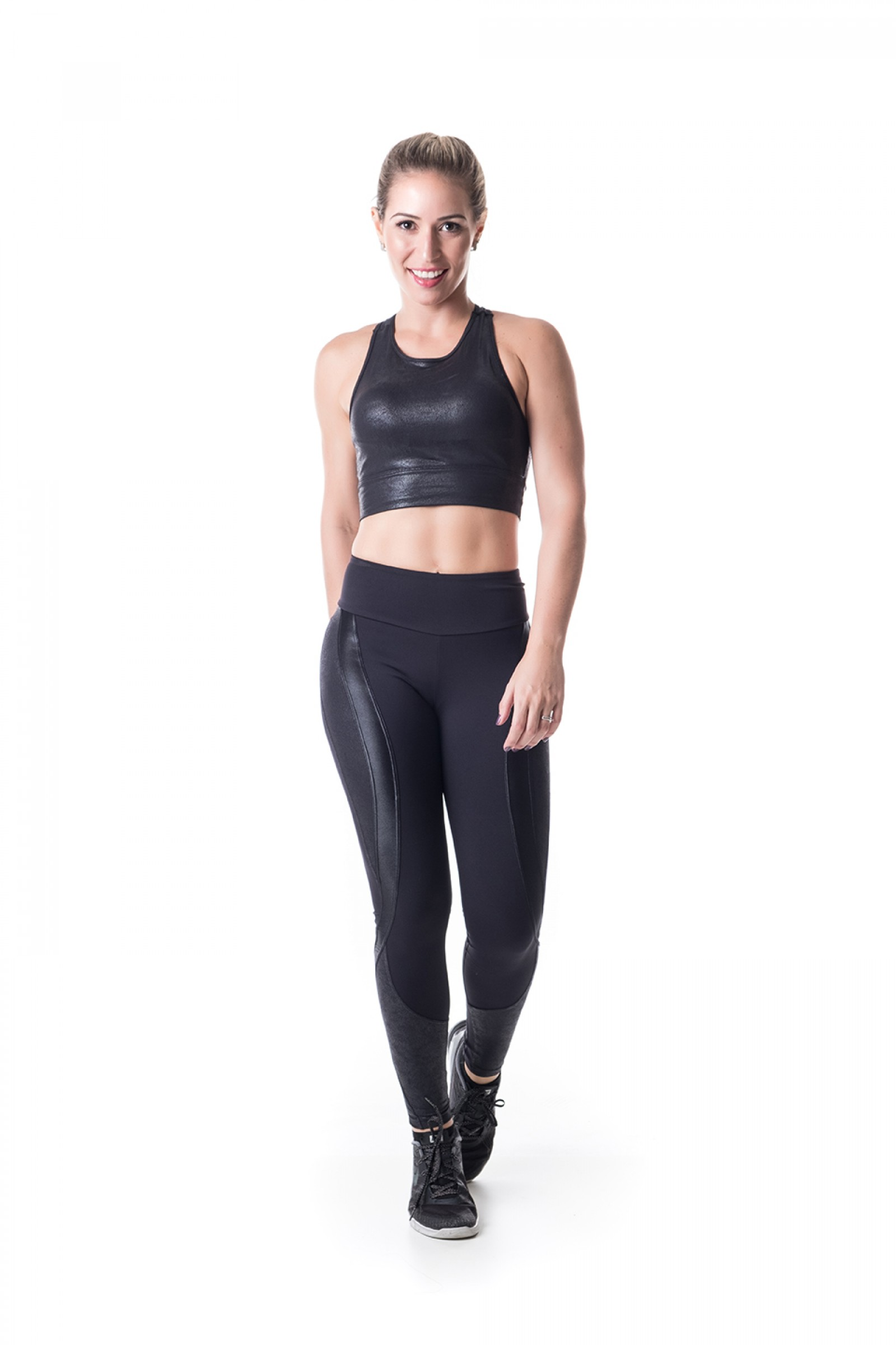 Legging Lead Preto Crak, Coleção Challenge - NKT Fitwear Moda Fitness