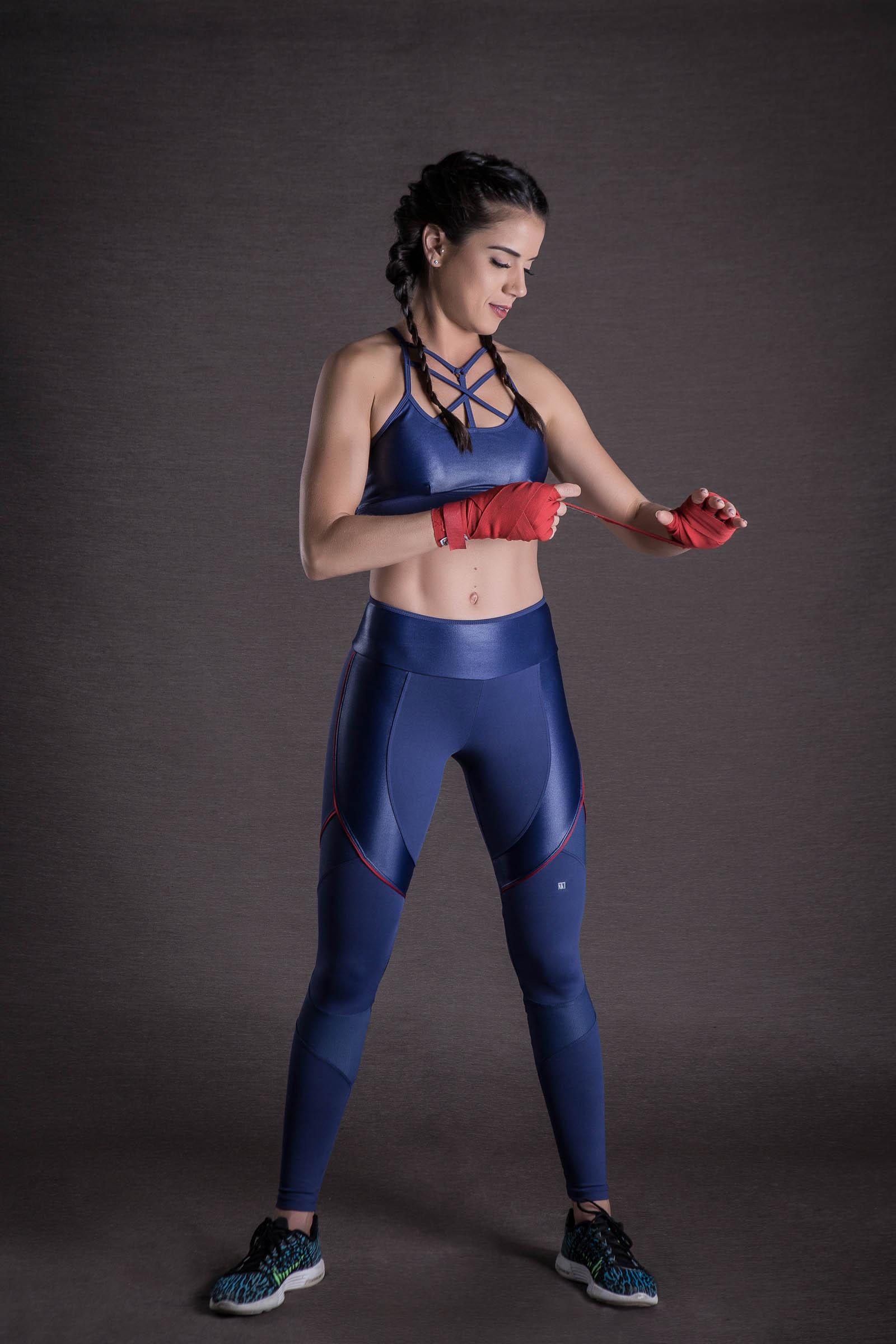 Top Infinity Marinho com Cirre, Coleção You can - NKT Fitwear Moda Fitness