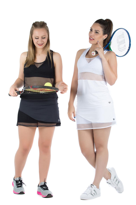 Saia Shorts Lovely Preto, Coleção Mulheres Reais - NKT Fitwear Moda Fitness