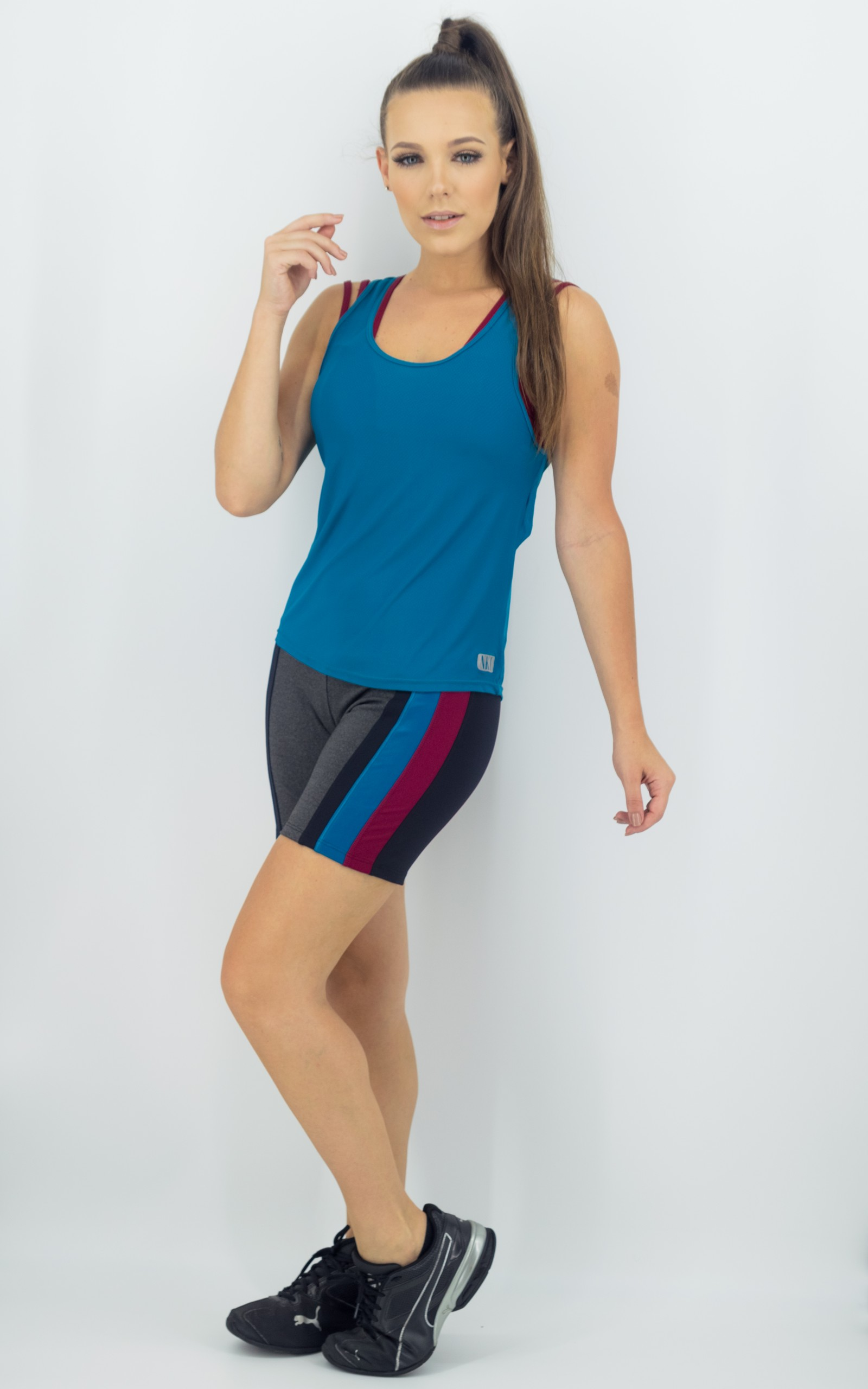 Bermuda Mellowness Petróleo, Coleção Move Your Body - NKT Fitwear Moda Fitness