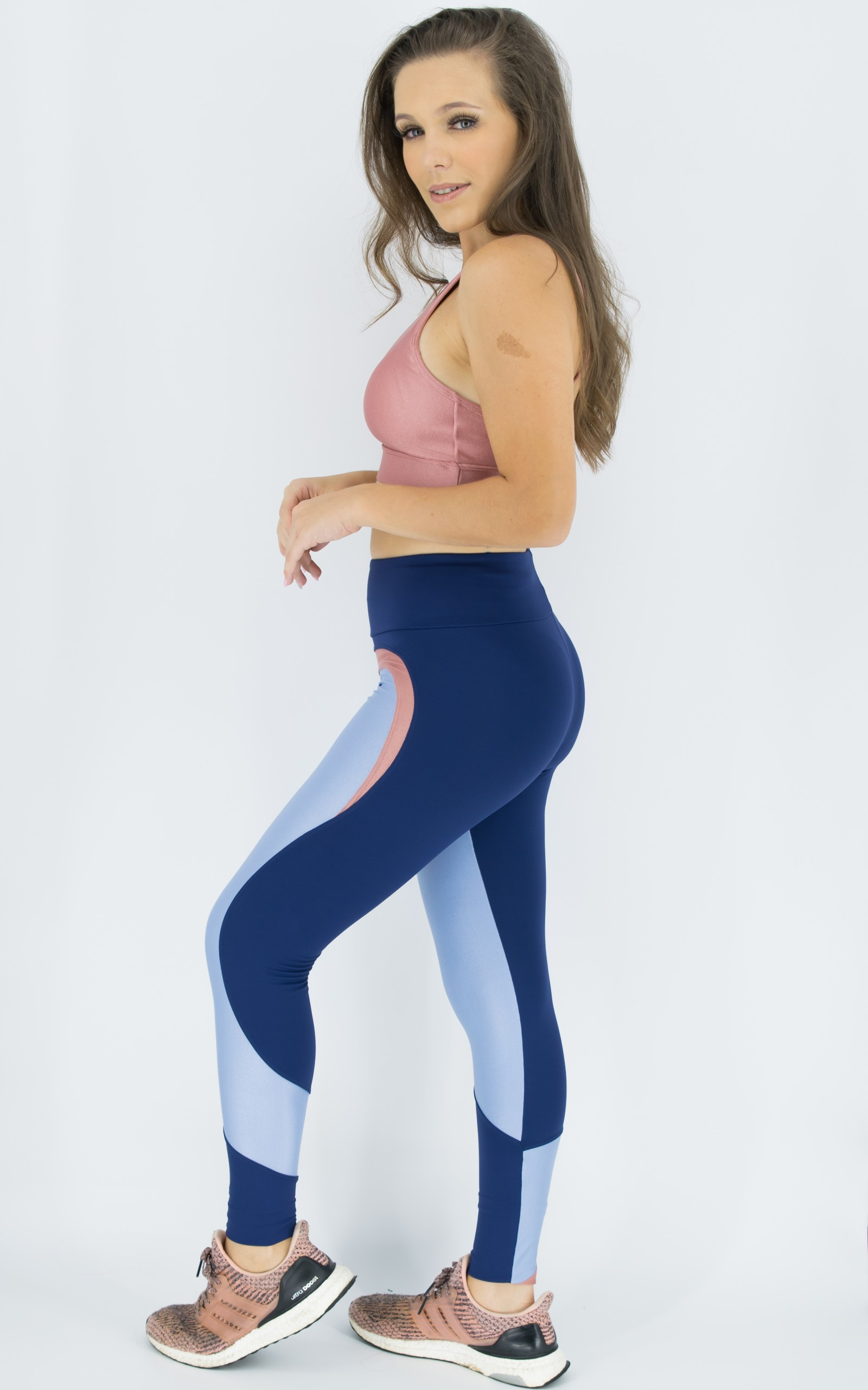 Legging Ocean Rosa Boca, Coleção Move Your Body - NKT Fitwear Moda Fitness