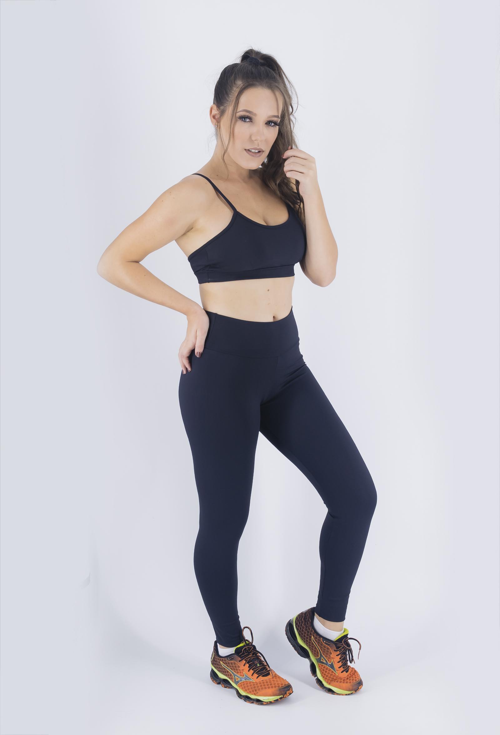 Legging NKT Preta, Coleção Just For You - NKT Fitwear Moda Fitness