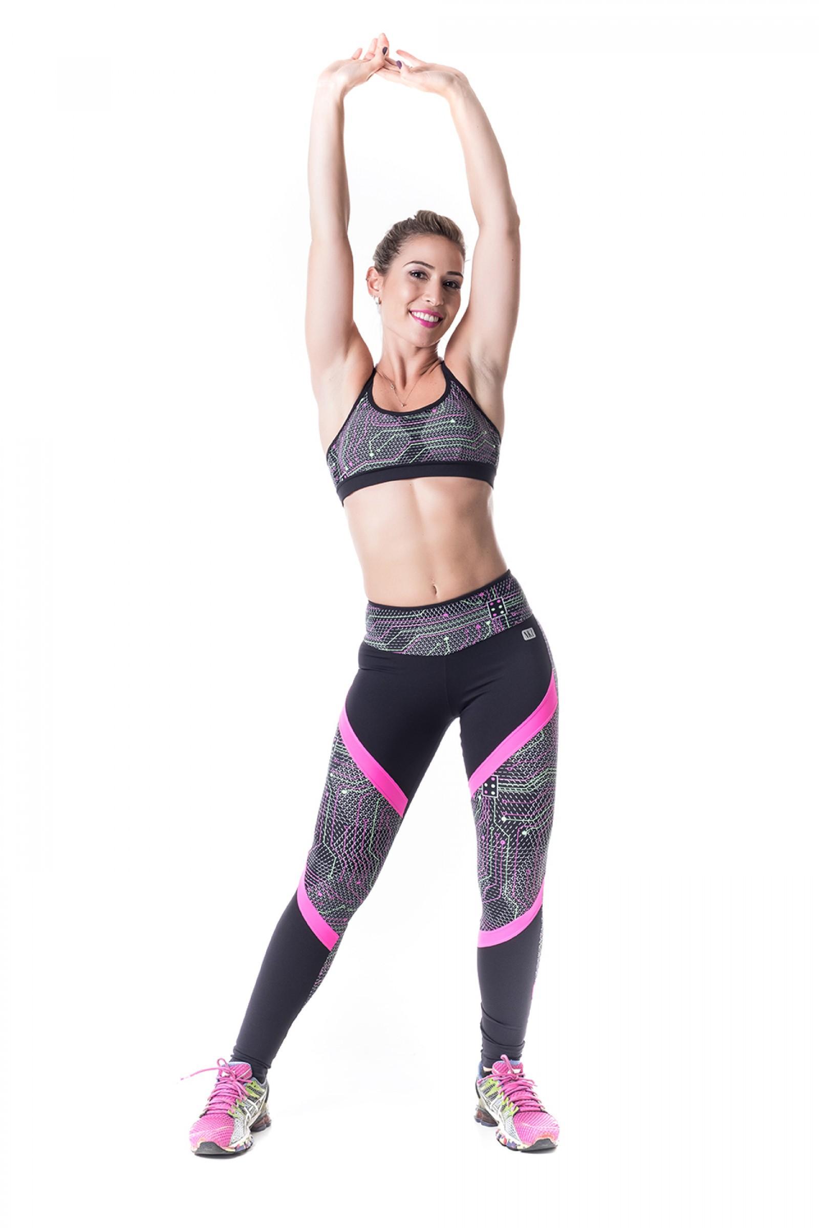 Legging Switch Reflet, Coleção Challenge - NKT Fitwear Moda Fitness