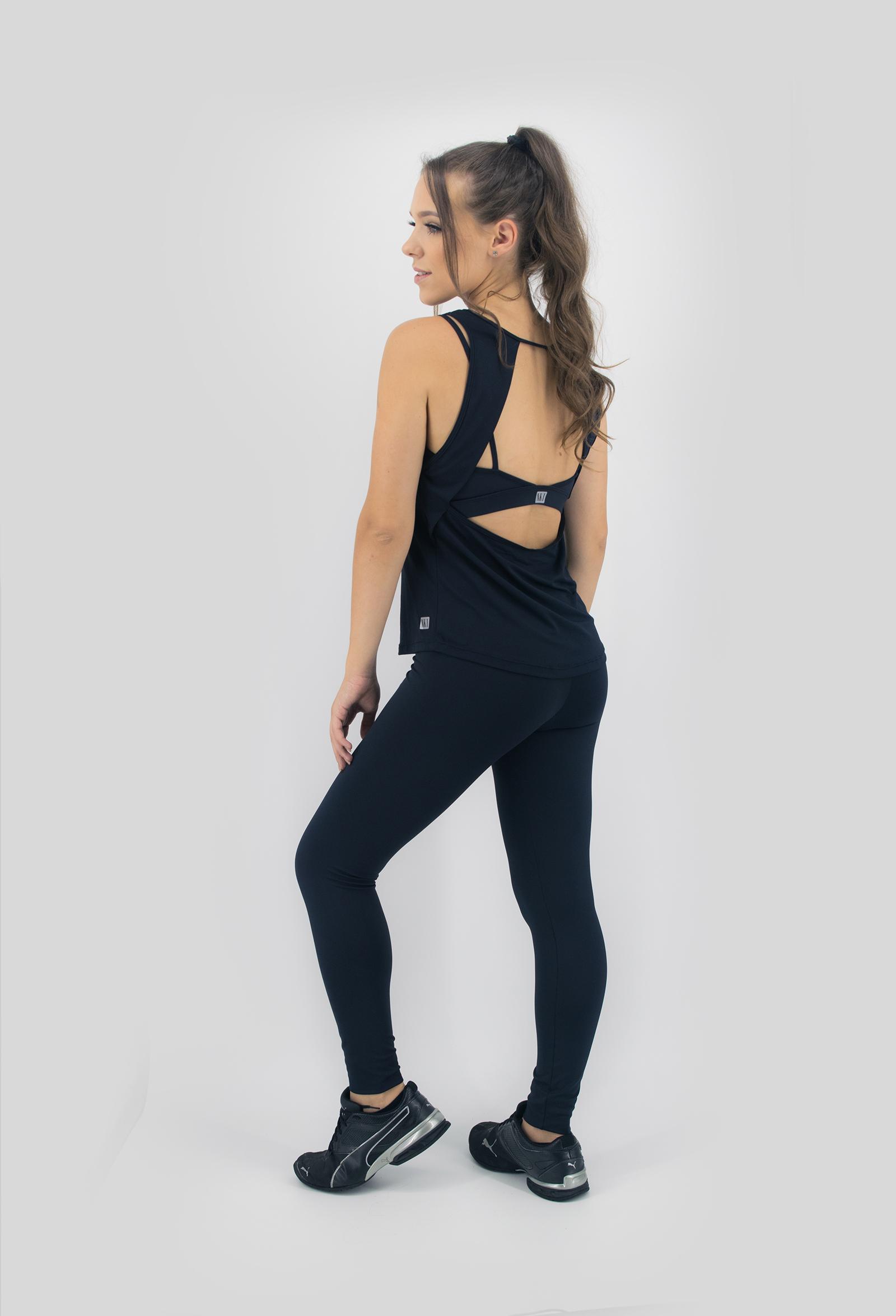 Regata Lux Preta, Coleção Move Your Body - NKT Fitwear Moda Fitness
