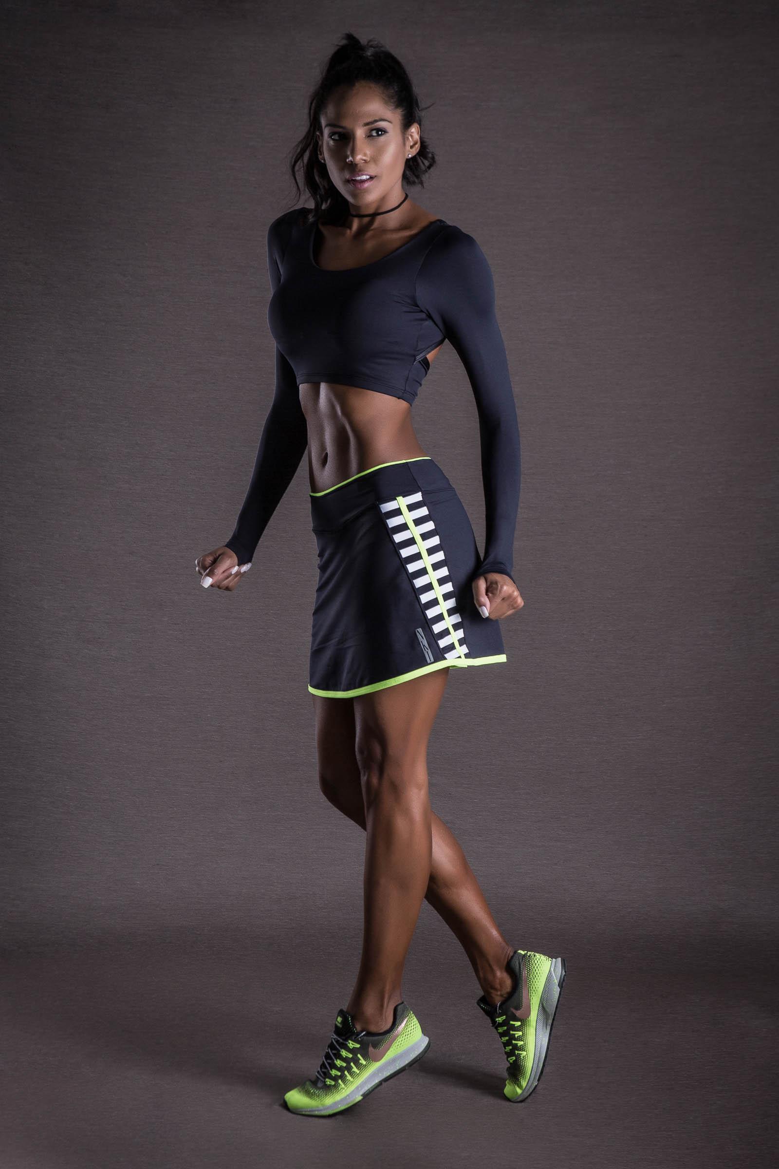 Saia Shorts Can Neon, Coleção You can - NKT Fitwear Moda Fitness