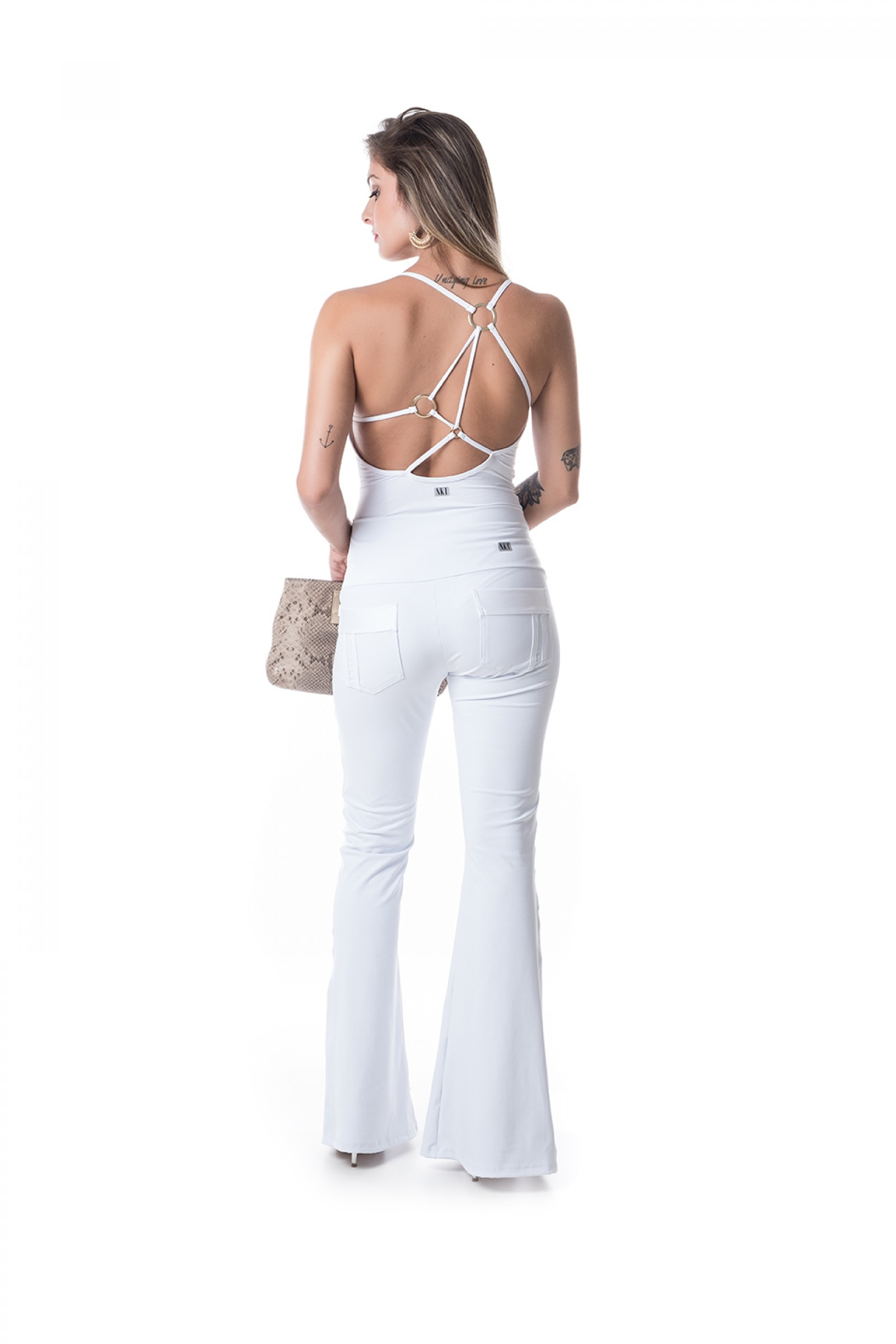 Flare Challenge Branco, Coleção Challenge - NKT Fitwear Moda Fitness