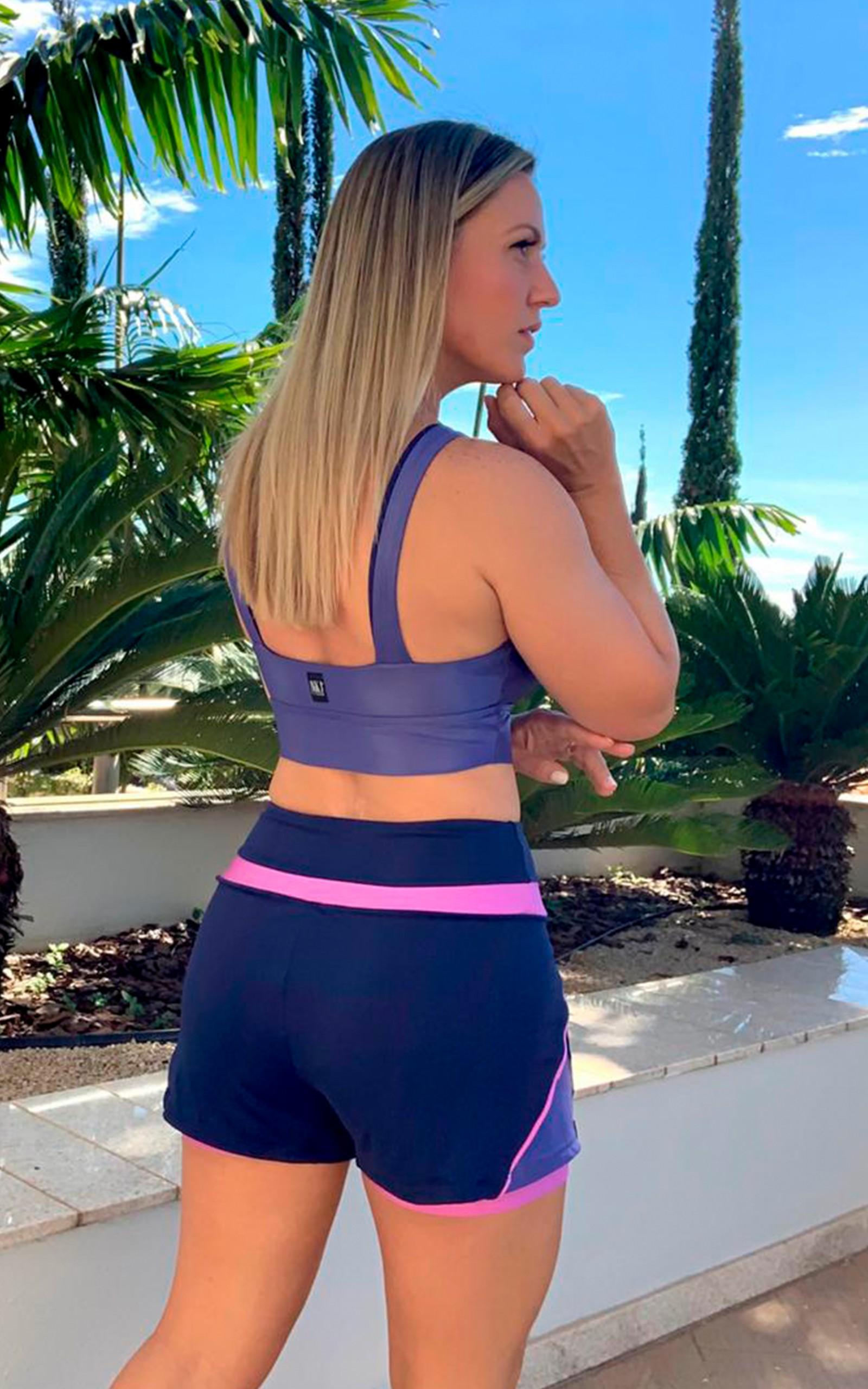 Shorts Joyful Marinho, Coleção YOURSELF - NKT Fitwear Moda Fitness