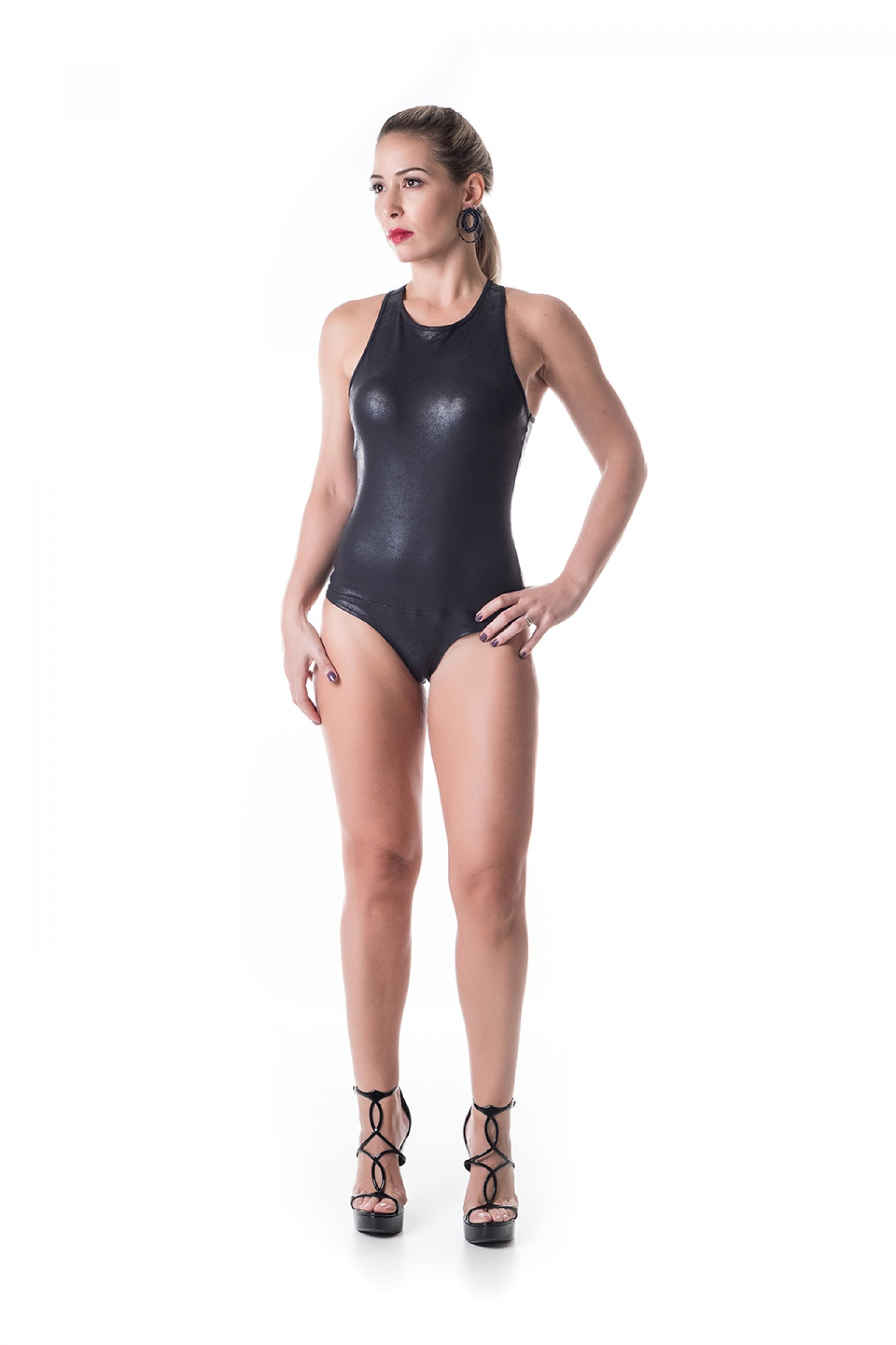 Body Face Preto Crak, Coleção Challenge - NKT Fitwear Moda Fitness