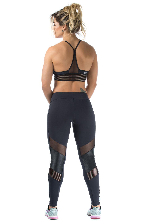 Legging Objective Preto, Coleção Mulheres Reais - NKT Fitwear Moda Fitness