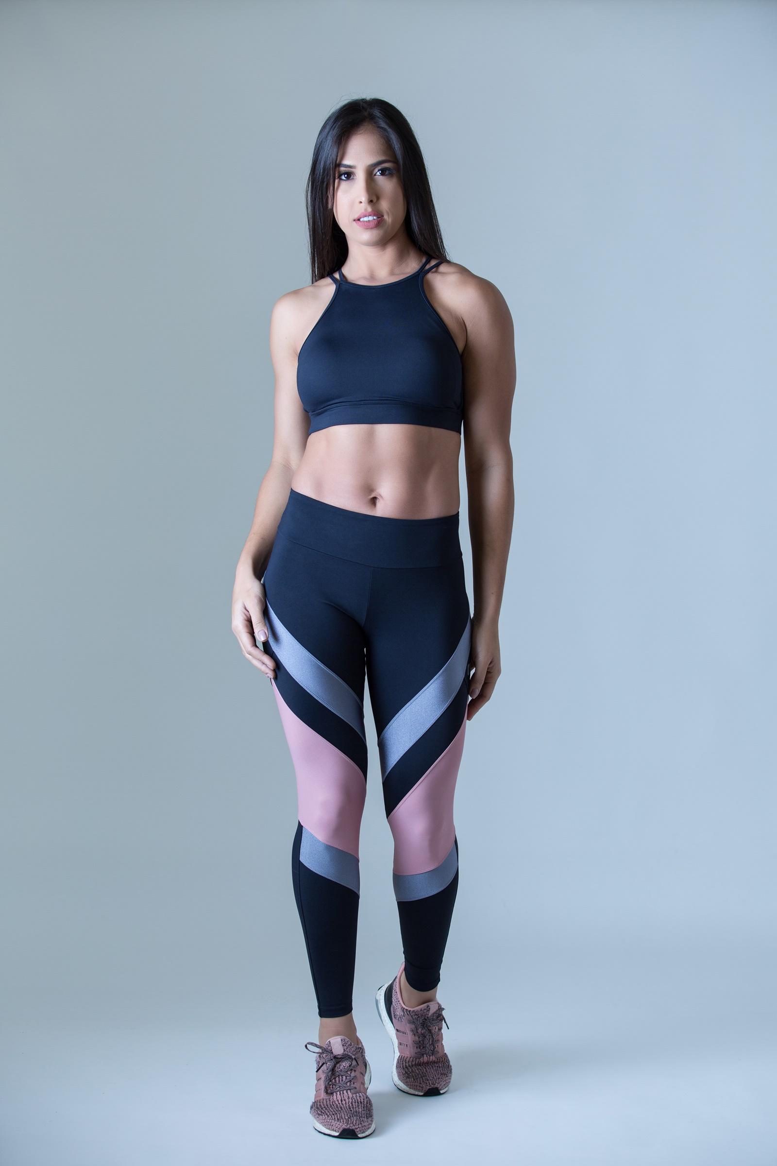 Legging Absolute Rosa Bocca, Coleção Plenitude - NKT Fitwear Moda Fitness