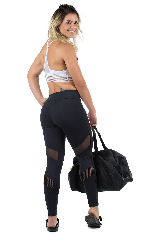 Legging Objective Branco, Coleção Mulheres Reais - NKT Fitwear Moda Fitness