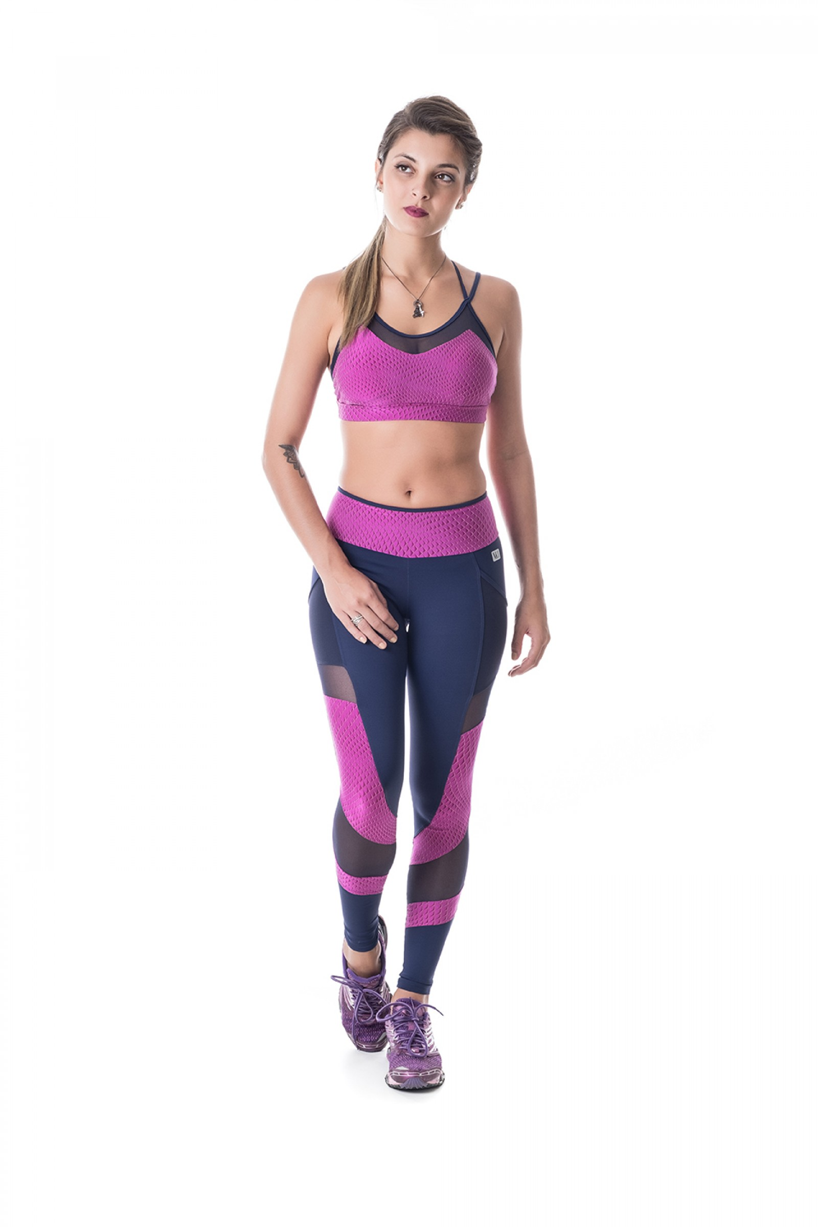 Legging Best Roxo, Coleção Challenge - NKT Fitwear Moda Fitness