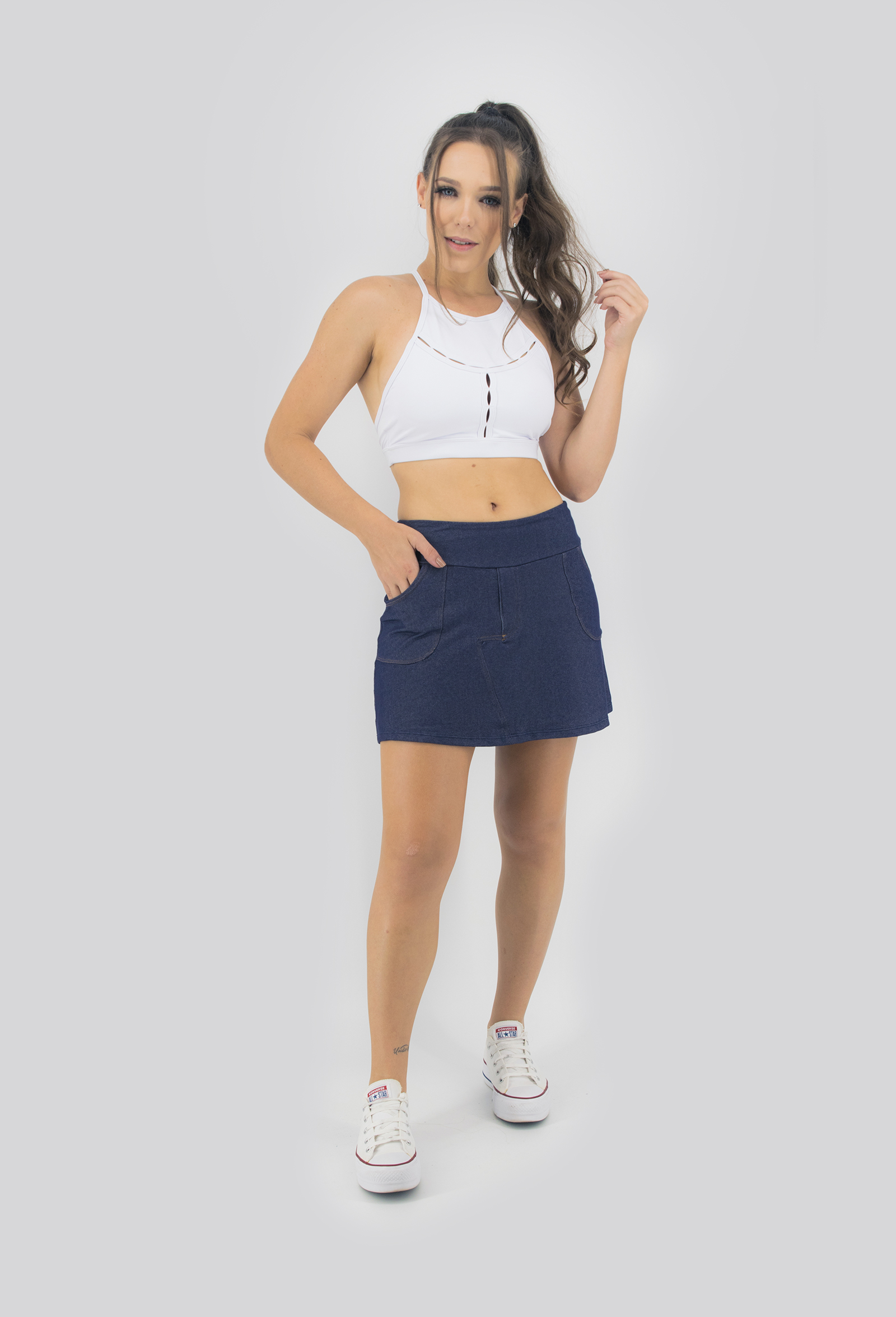 Cropped Only Branco, Coleção Move Your Body - NKT Fitwear Moda Fitness