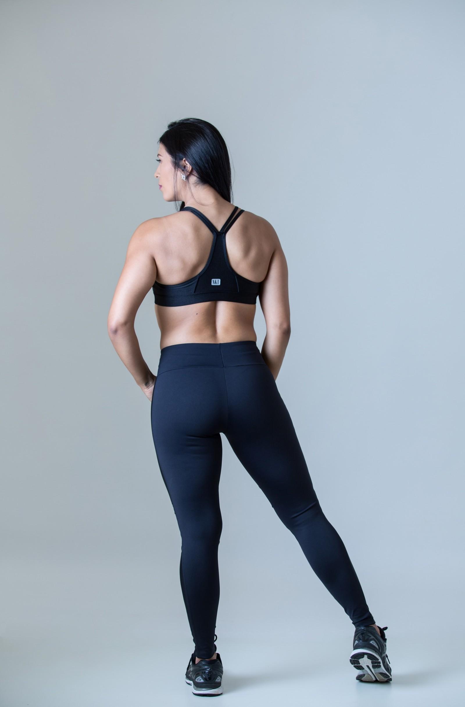 Legging Perfection Preto Cirré, Coleção Plenitude - NKT Fitwear Moda Fitness
