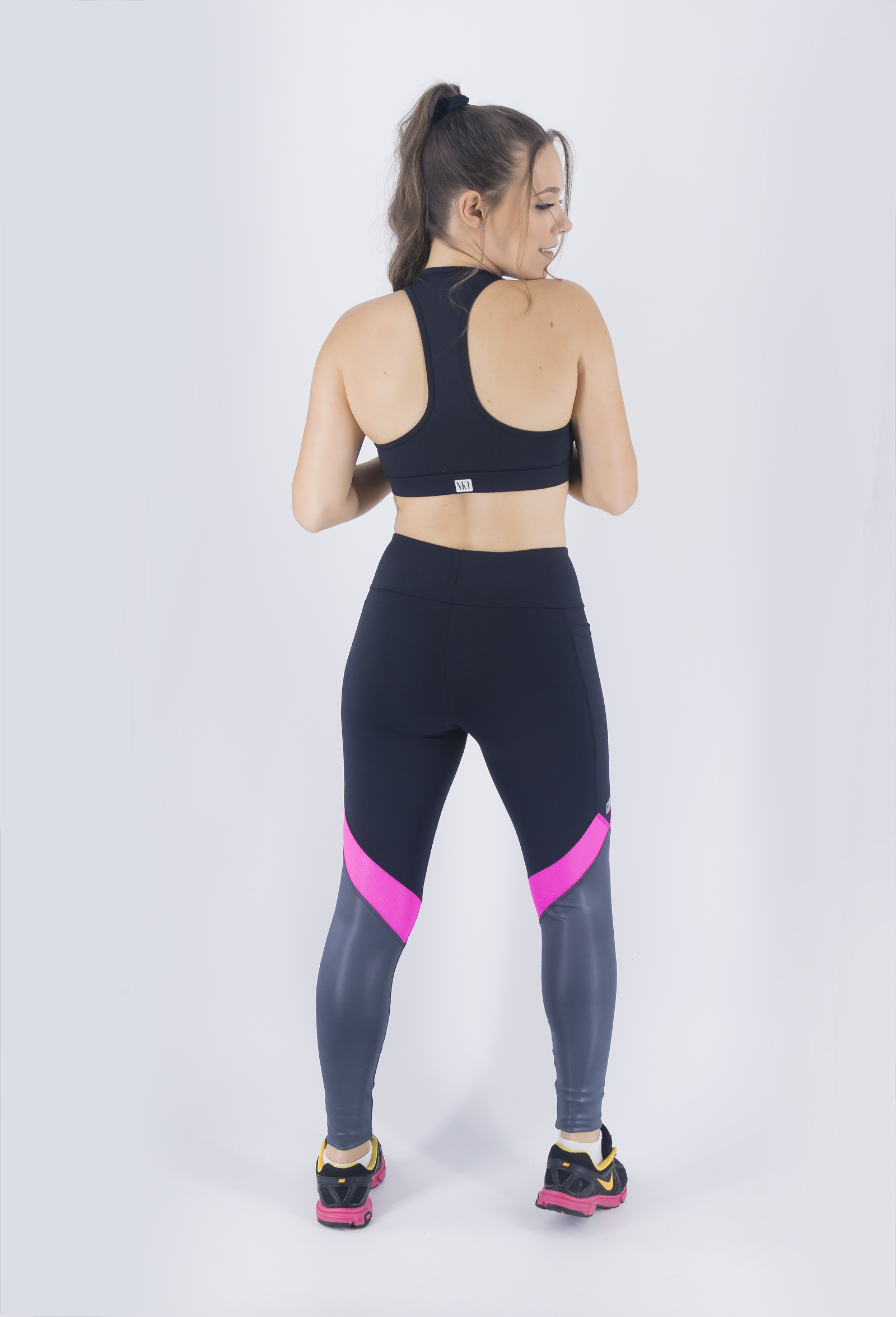 Top Set Chumbo, Coleção Just For You - NKT Fitwear Moda Fitness