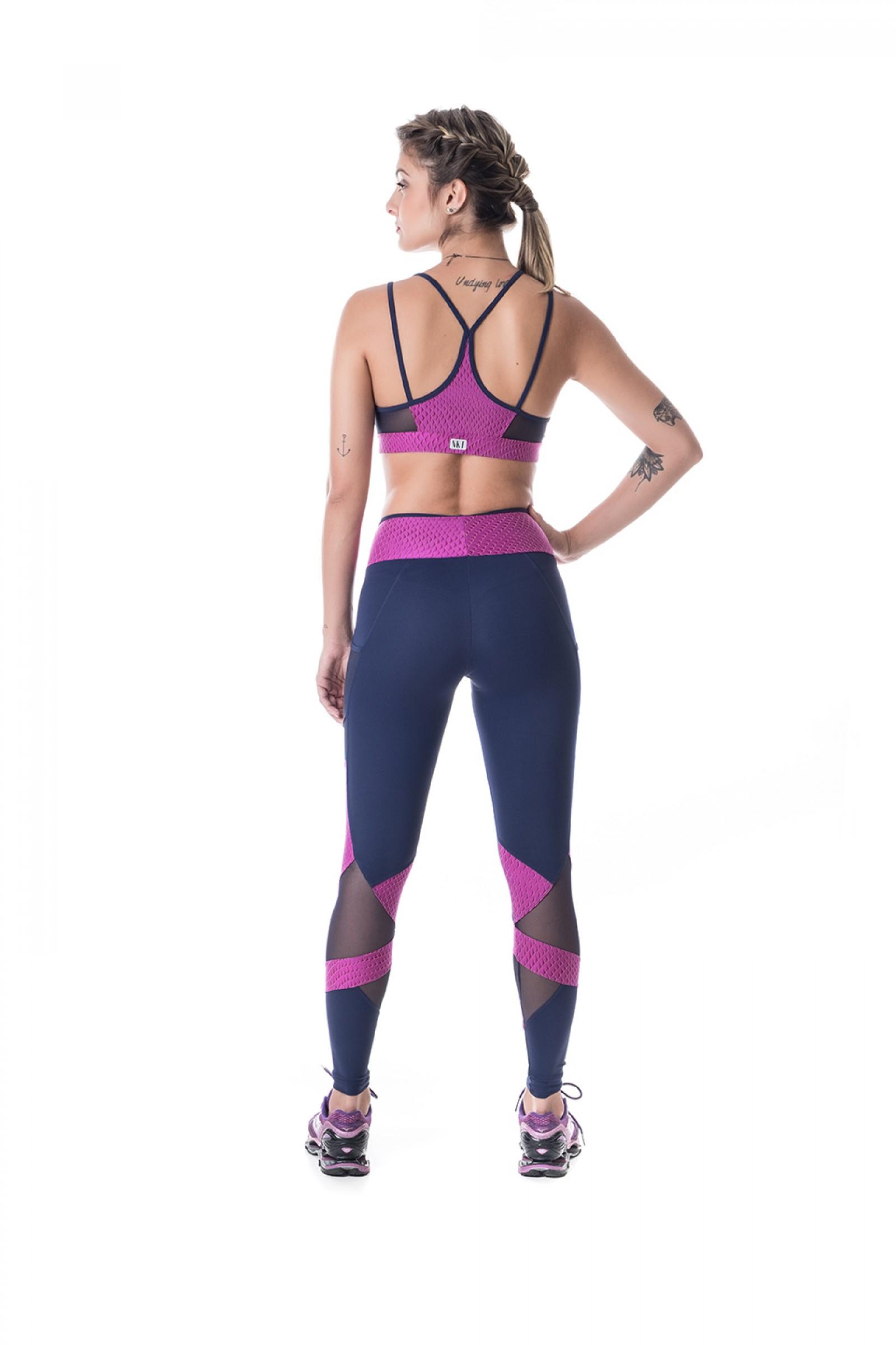 Top Best Roxo, Coleção Challenge - NKT Fitwear Moda Fitness