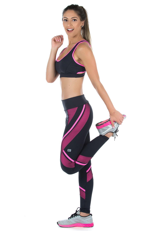 Top Power Full Pink, Coleção Mulheres Reais - NKT Fitwear Moda Fitness