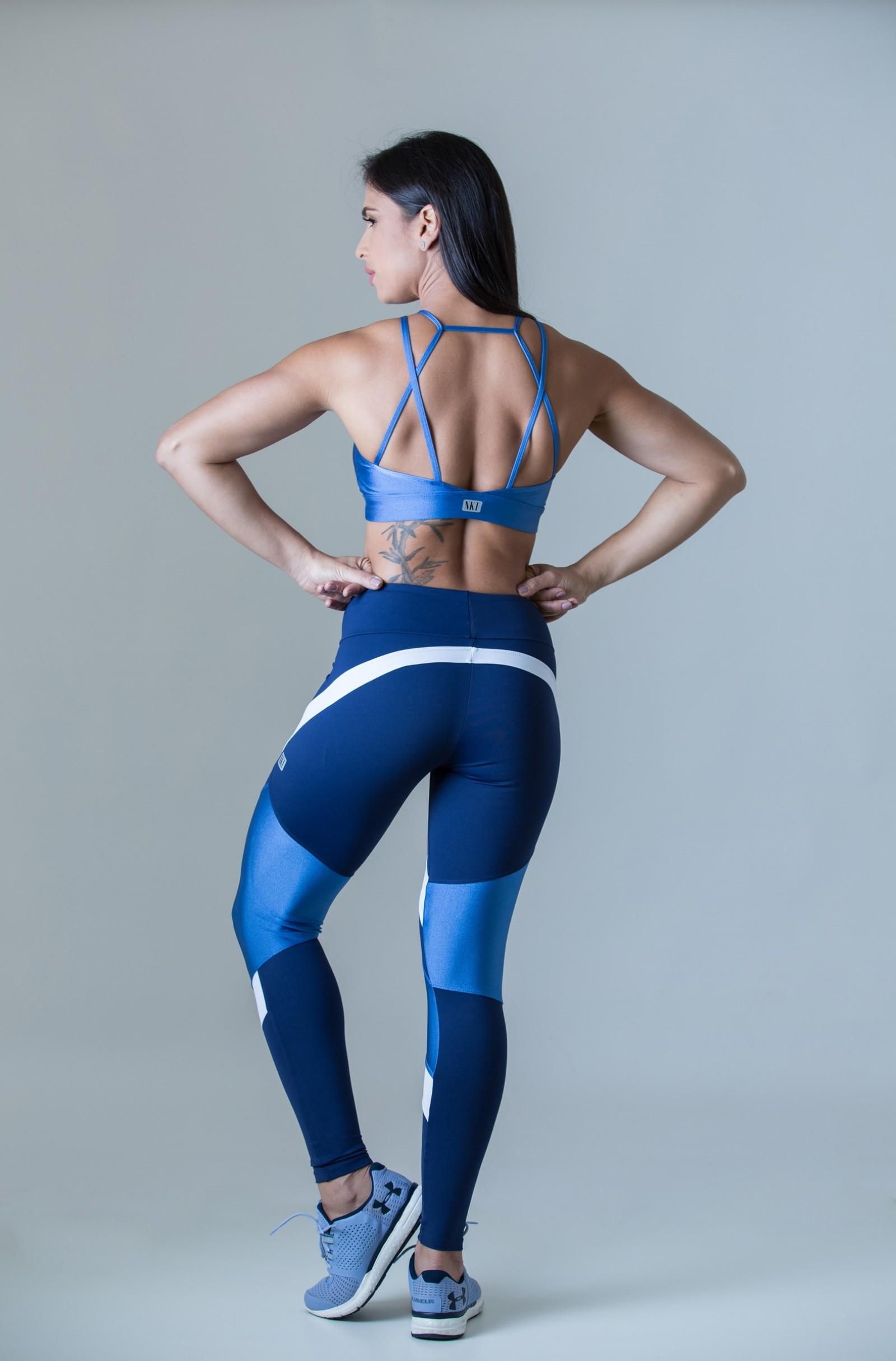 Legging Absolute Azul Céu, Coleção Plenitude - NKT Fitwear Moda Fitness