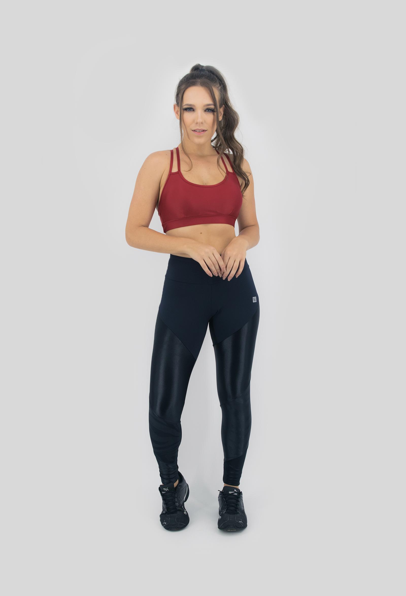 Legging Profusion Preta, Coleção Move Your Body - NKT Fitwear Moda Fitness