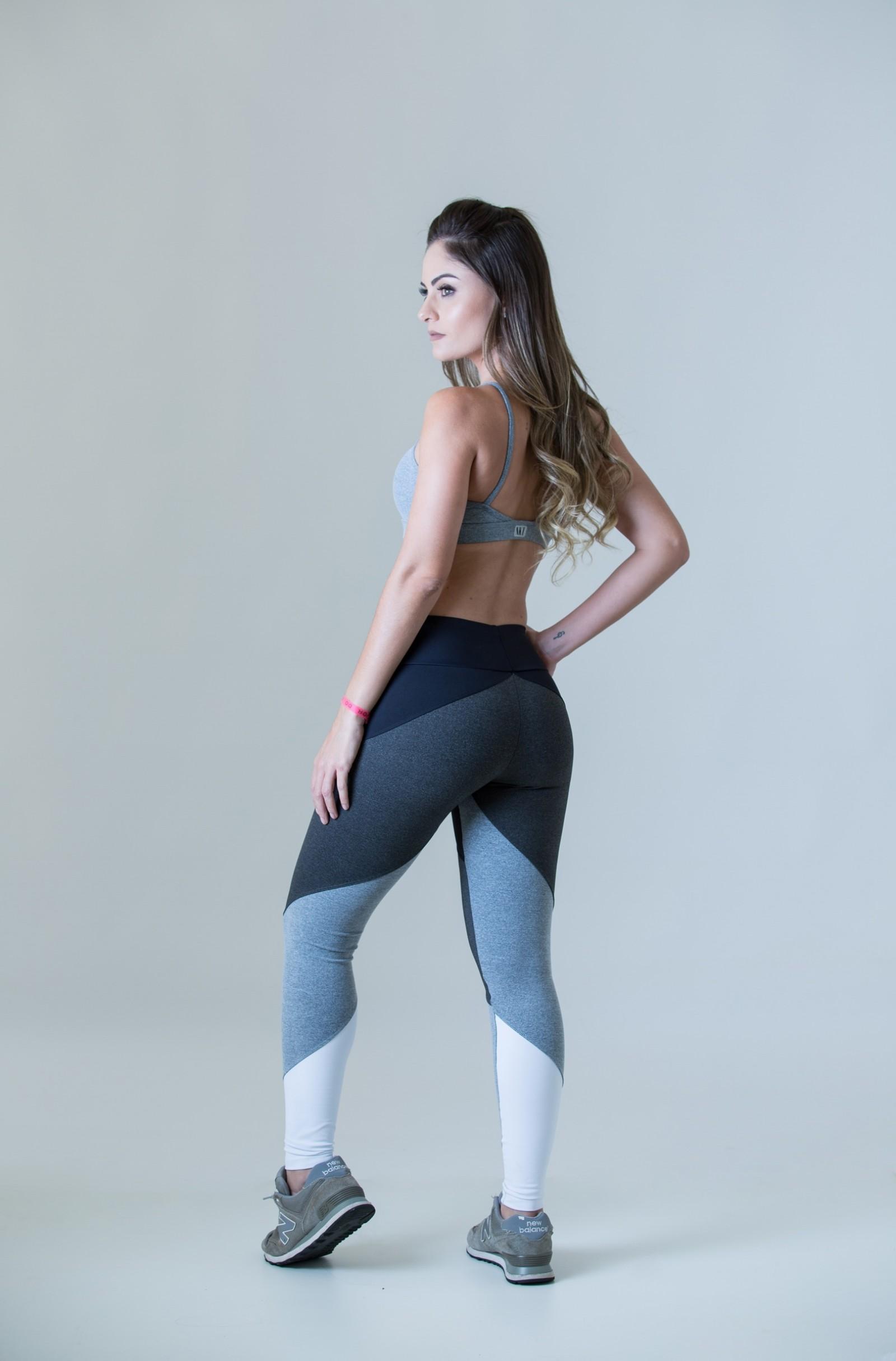 Legging Profusion Mescla, Coleção Plenitude - NKT Fitwear Moda Fitness