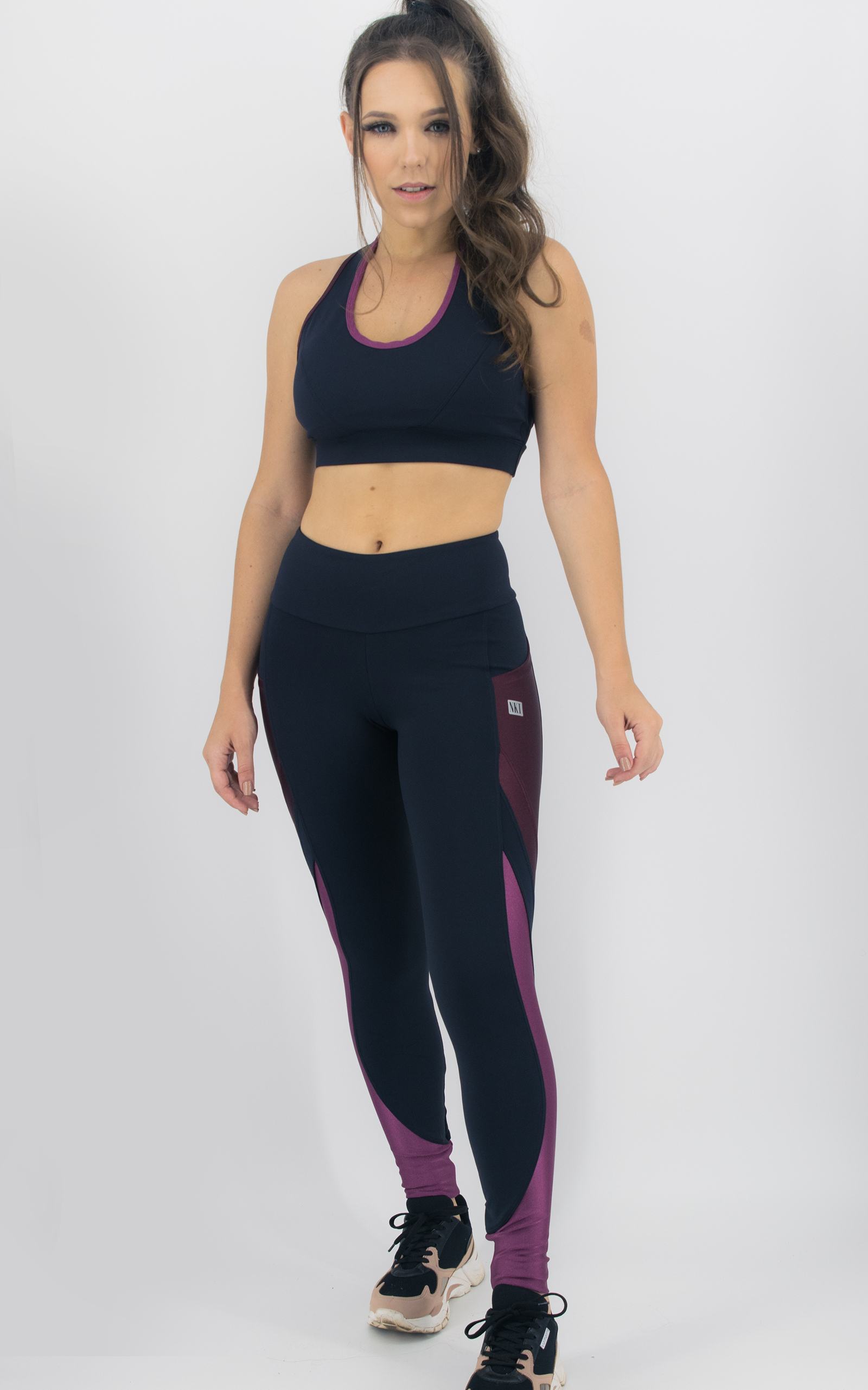Legging Expression Two Bordo, Coleção Move Your Body - NKT Fitwear Moda Fitness