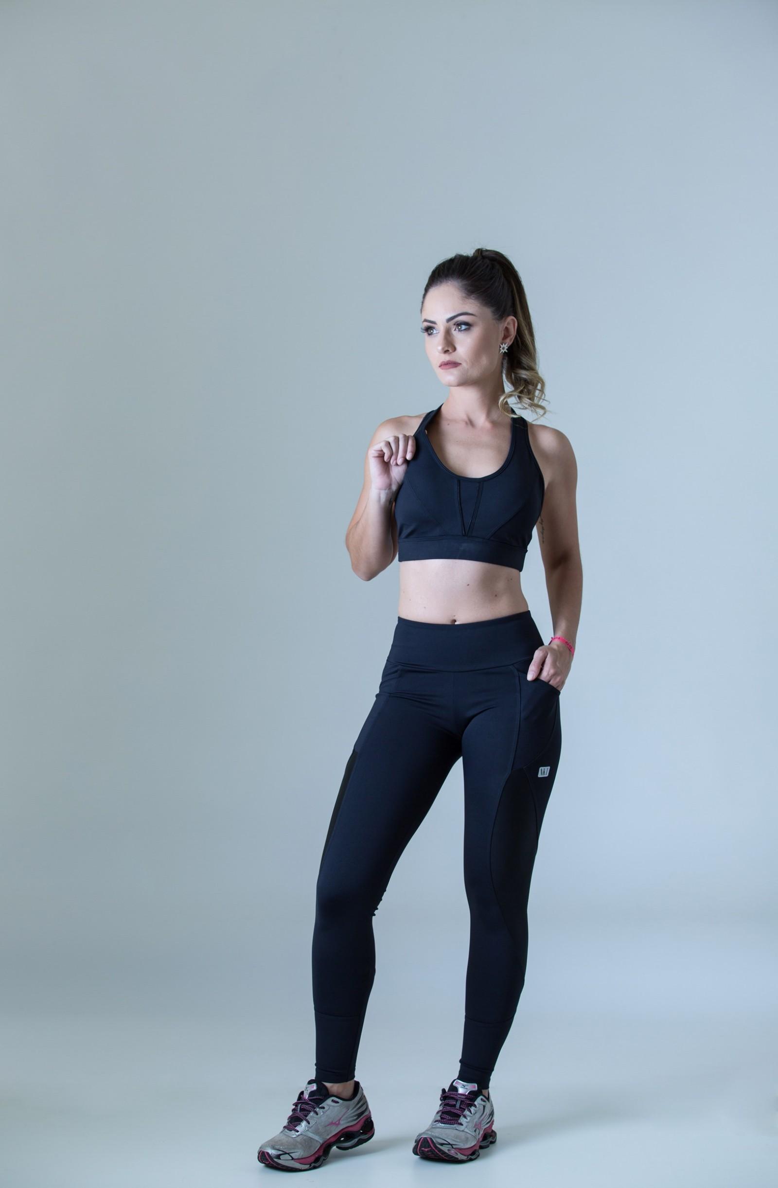 Legging Freedom Preto, Coleção Plenitude - NKT Fitwear Moda Fitness