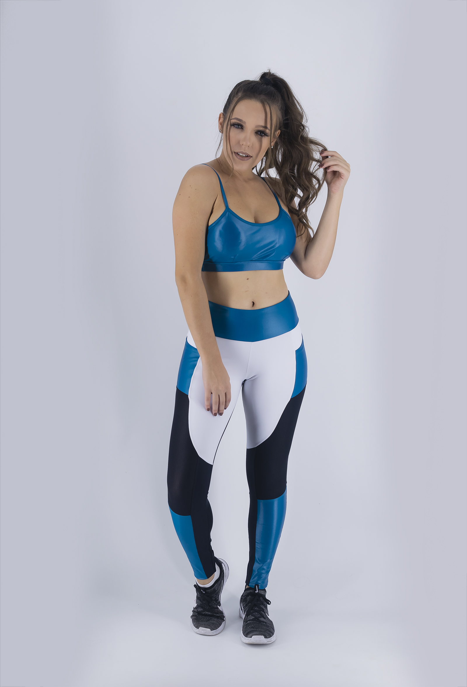 Top Profusion Petróleo, Coleção Just For You - NKT Fitwear Moda Fitness