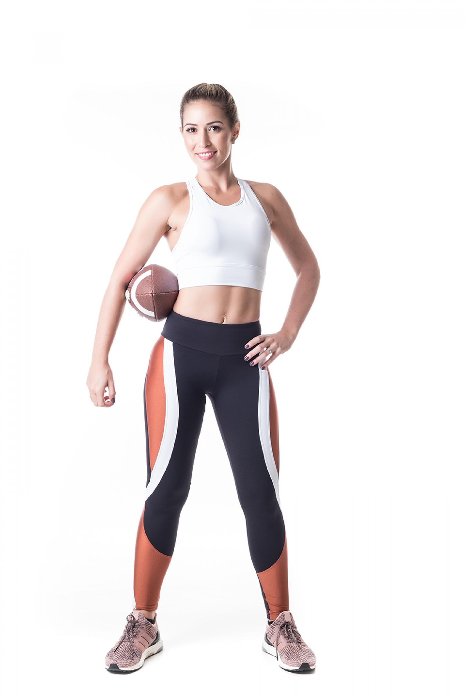 Legging Lead Ferrugem, Coleção Challenge - NKT Fitwear Moda Fitness