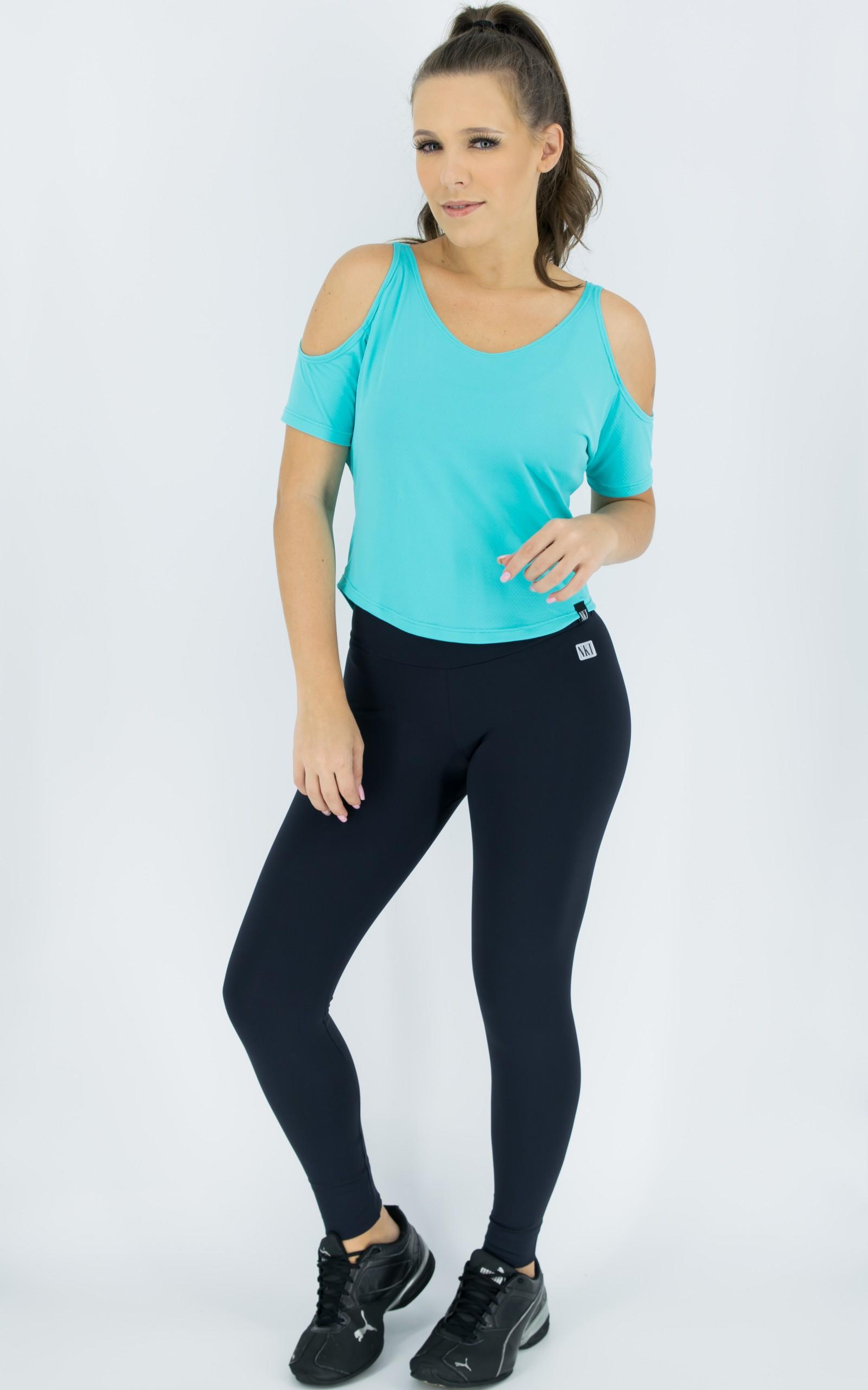 Blusa Like Azul, Coleção Move Your Body - NKT Fitwear Moda Fitness