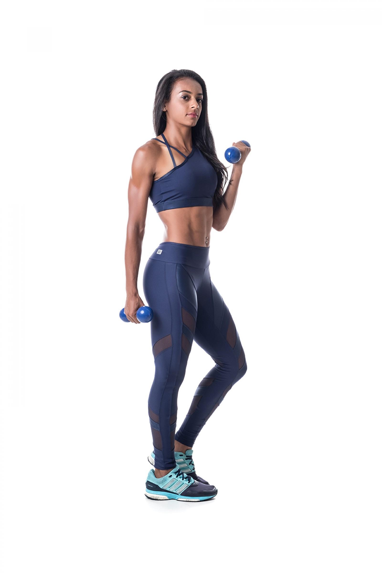 Legging Instigate Marinho, Coleção Challenge - NKT Fitwear Moda Fitness