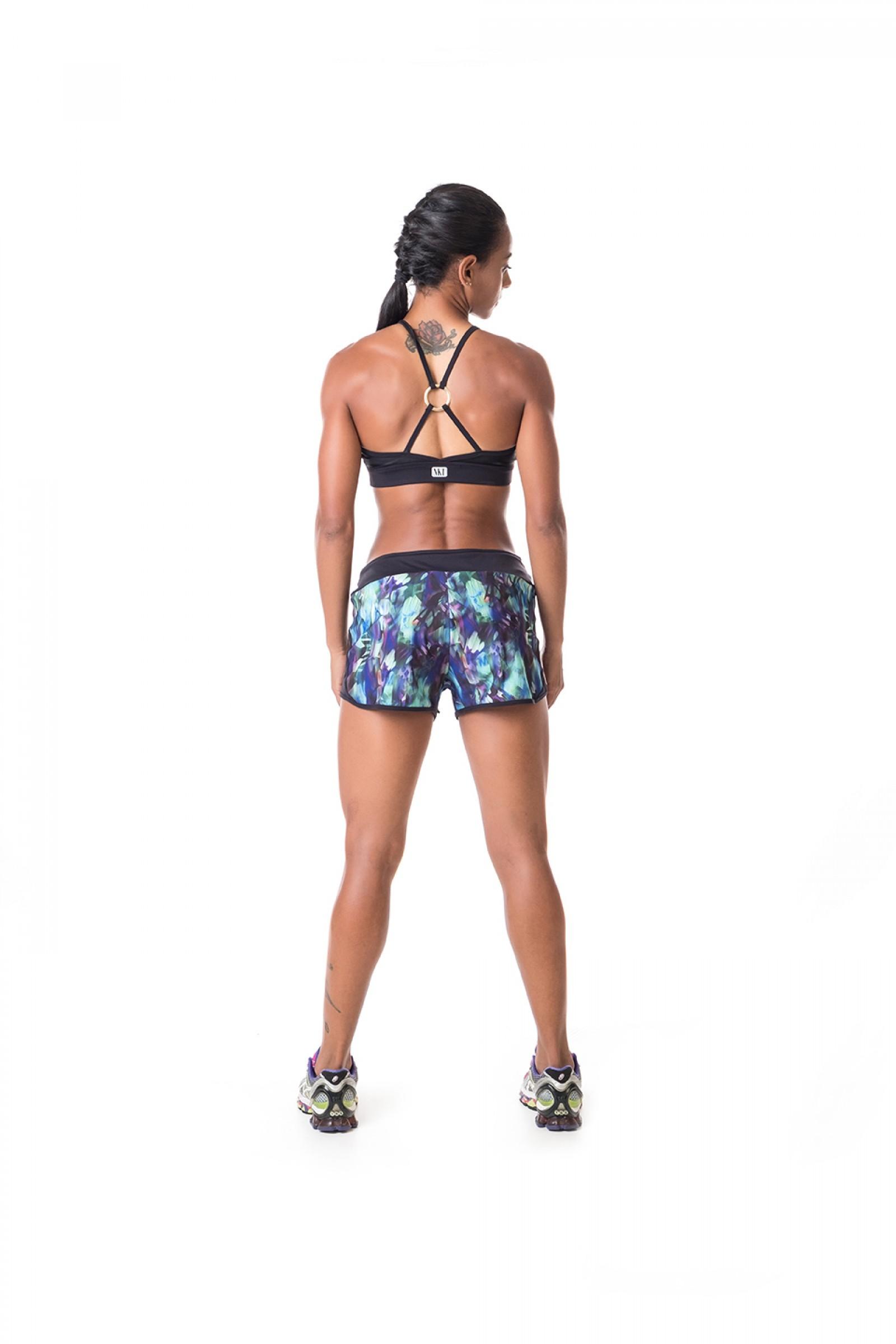 Top Infinity Preto Cirre, Coleção Challenge - NKT Fitwear Moda Fitness