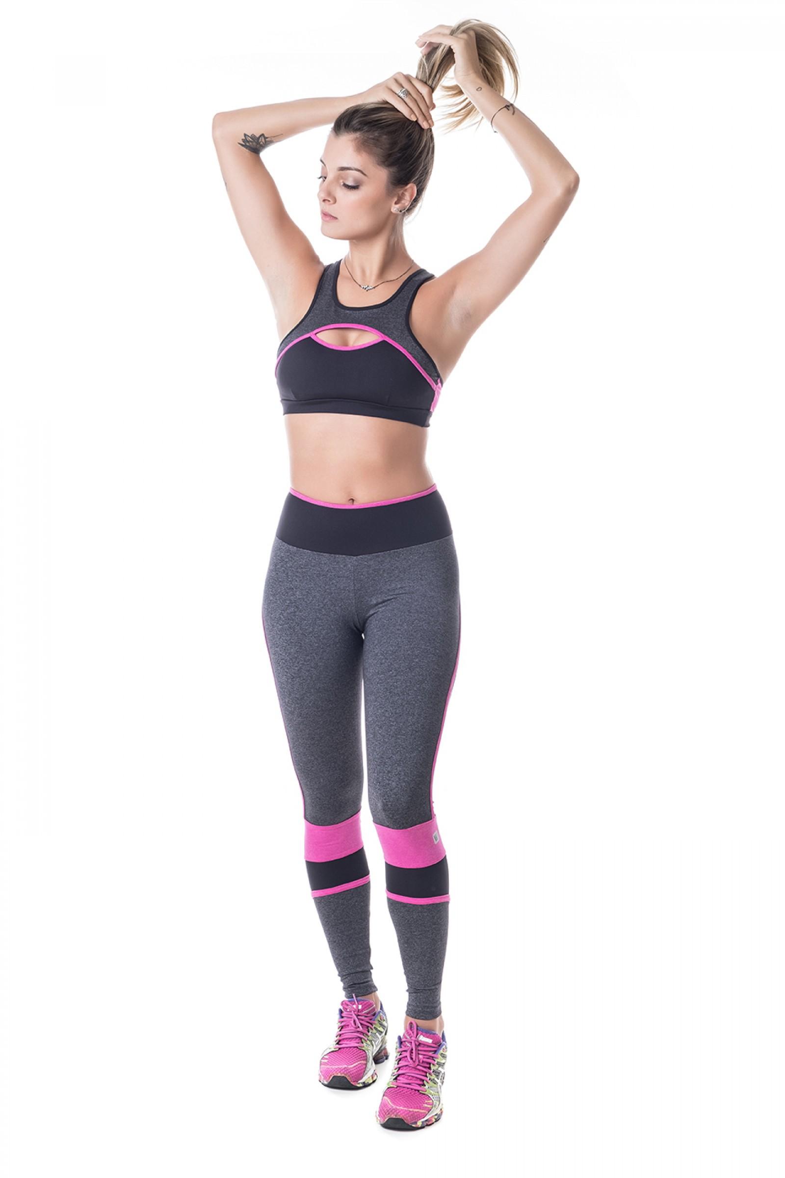 Legging Brave Rose, Coleção Challenge - NKT Fitwear Moda Fitness