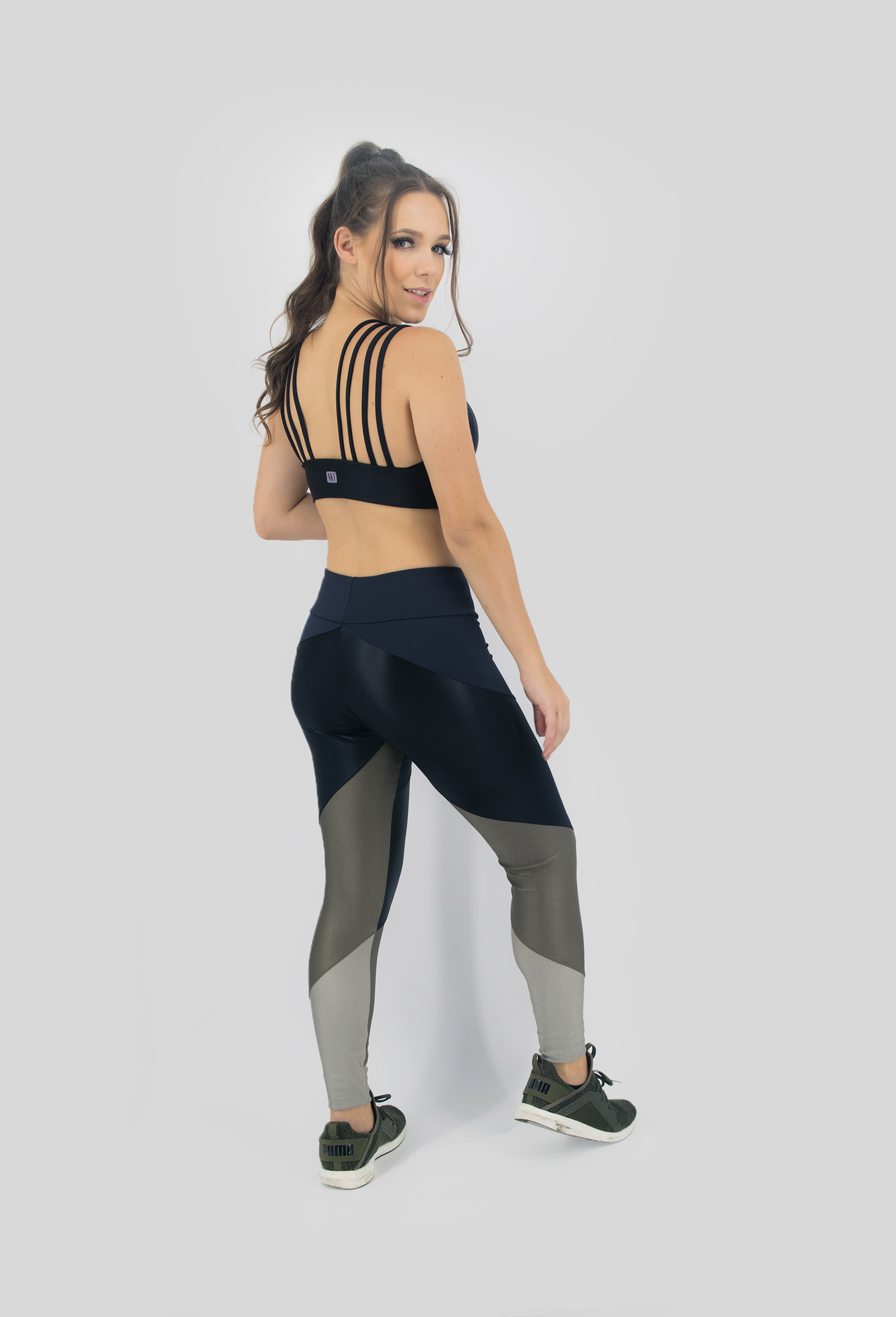 Legging Profusion Verde Musgo, Coleção Move Your Body - NKT Fitwear Moda Fitness
