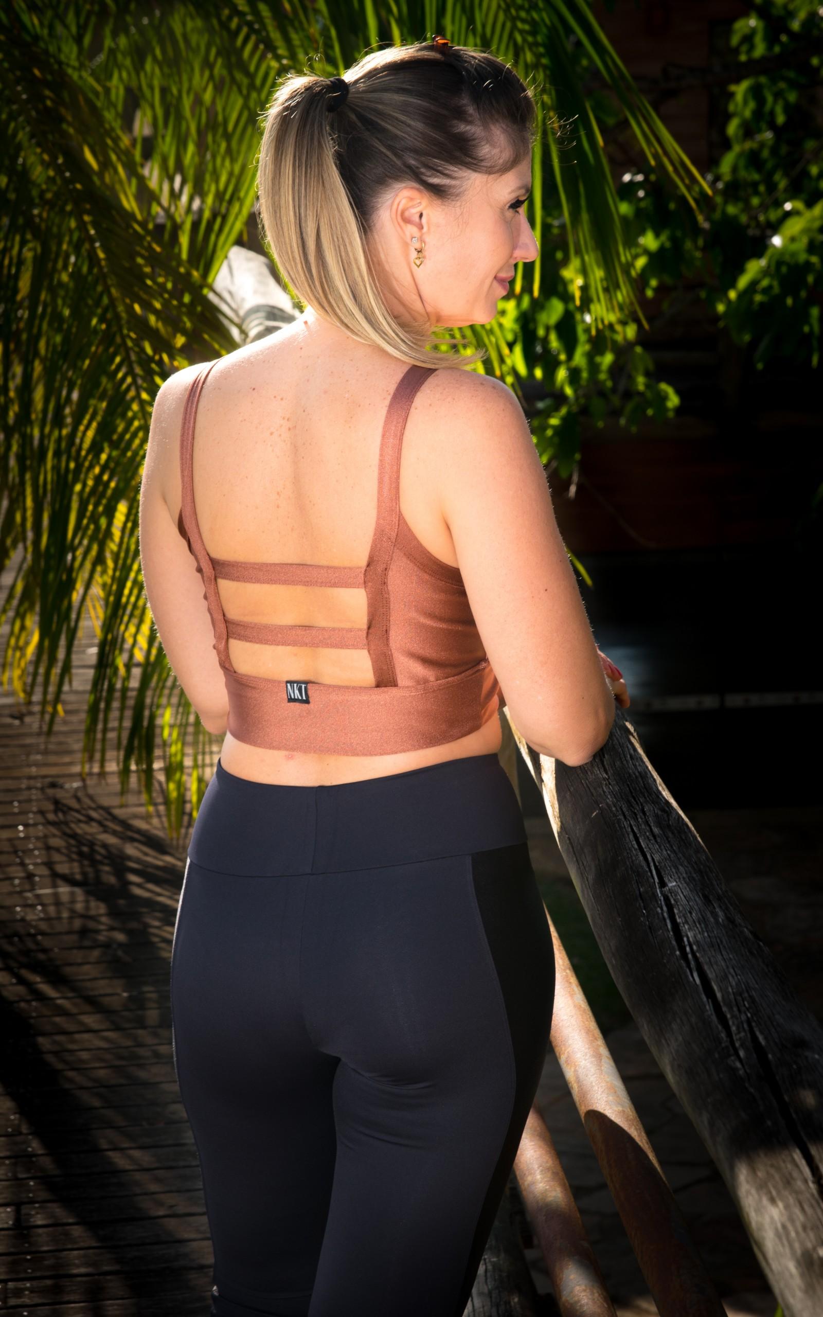 Croopped Alluring Cobre, Coleção YOURSELF - NKT Fitwear Moda Fitness