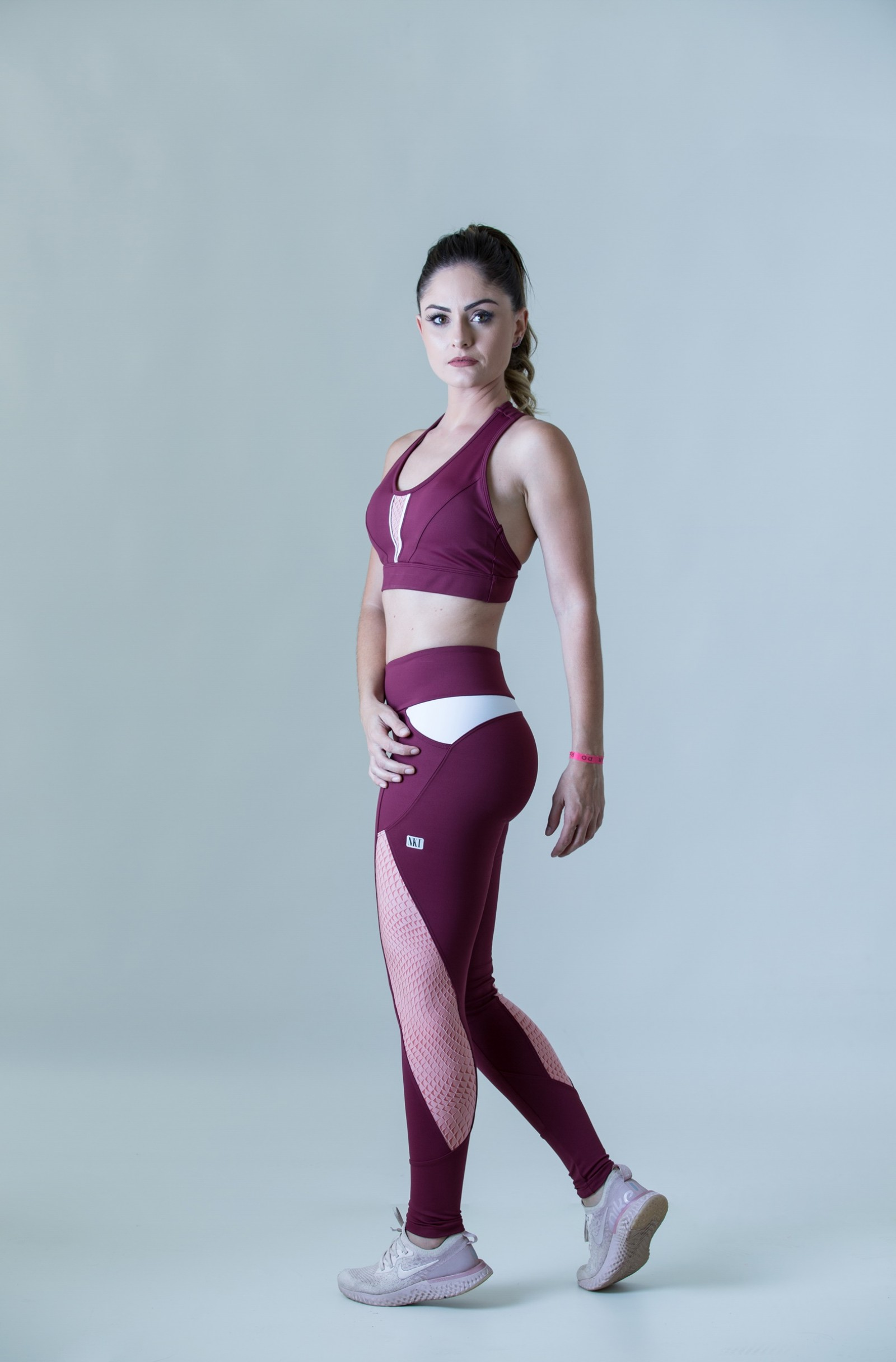 Legging Freedom Grenat, Coleção Plenitude - NKT Fitwear Moda Fitness