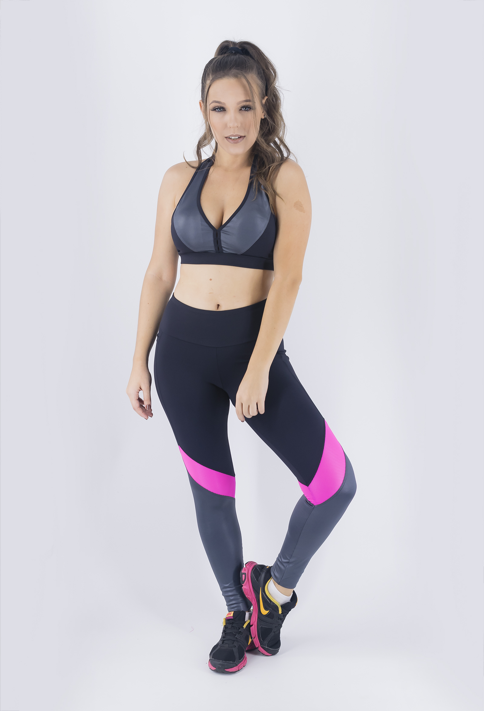 Top Set Chumbo, Coleção Just For You - NKT Fitwear Moda Fitness