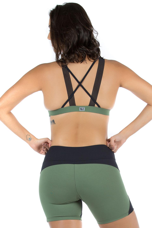 Top Fabulous Verde Musgo, Coleção Mulheres Reais - NKT Fitwear Moda Fitness