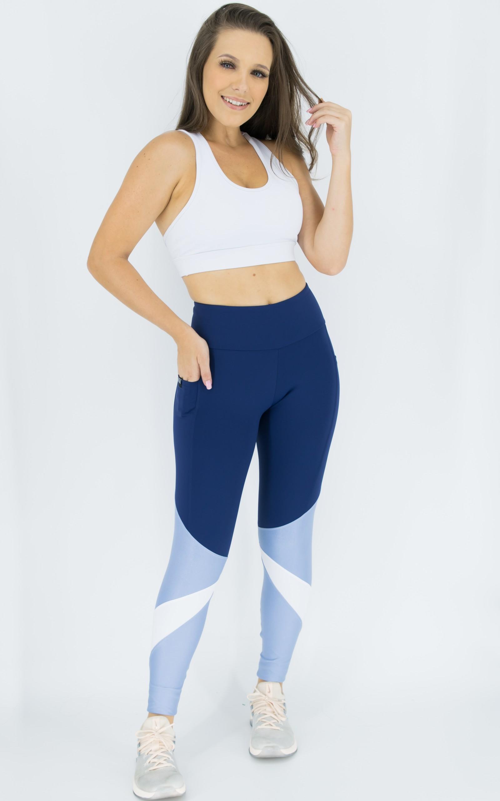 Legging Pratic Azul, Coleção Move Your Body - NKT Fitwear Moda Fitness