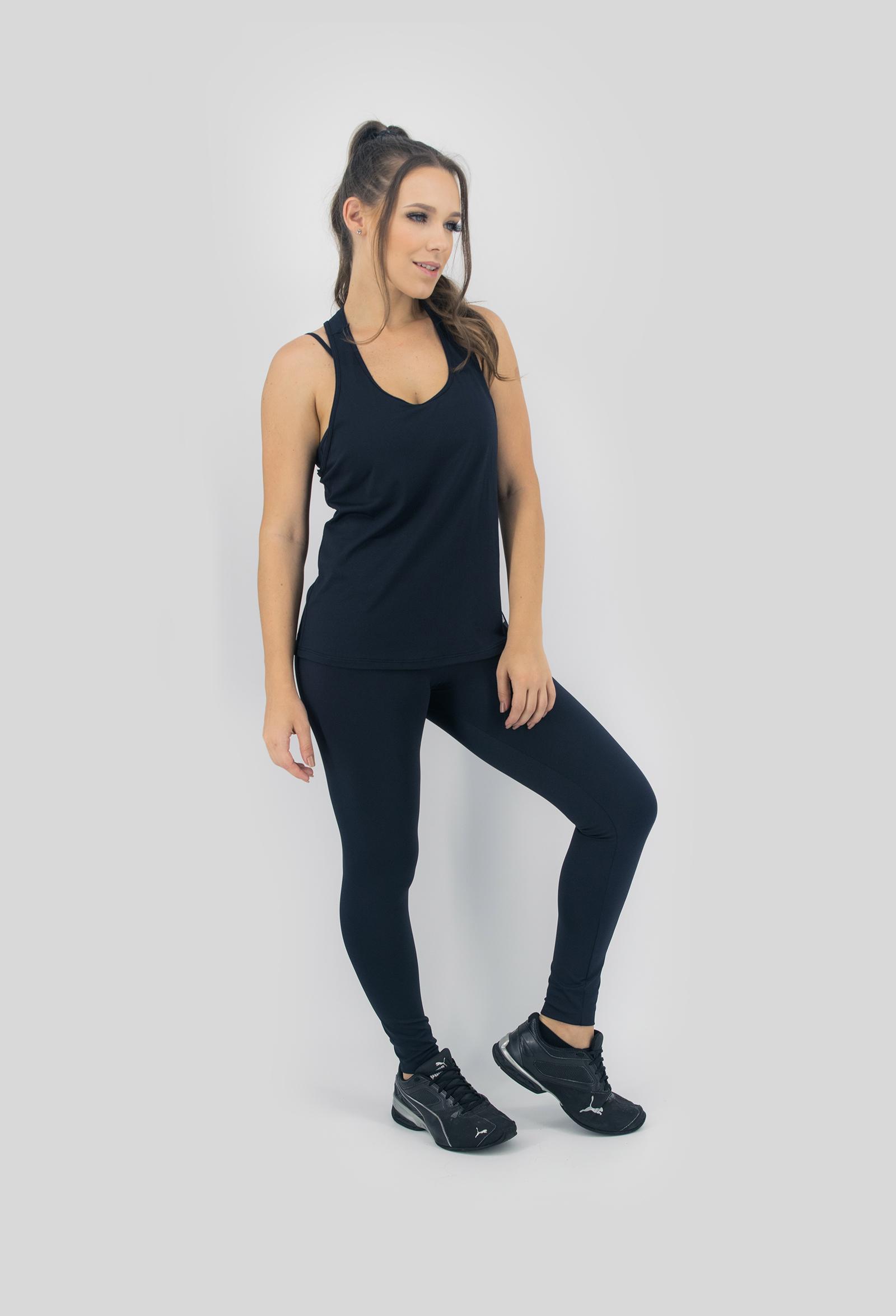 Regata NKT Preta, Coleção Move Your Body - NKT Fitwear Moda Fitness