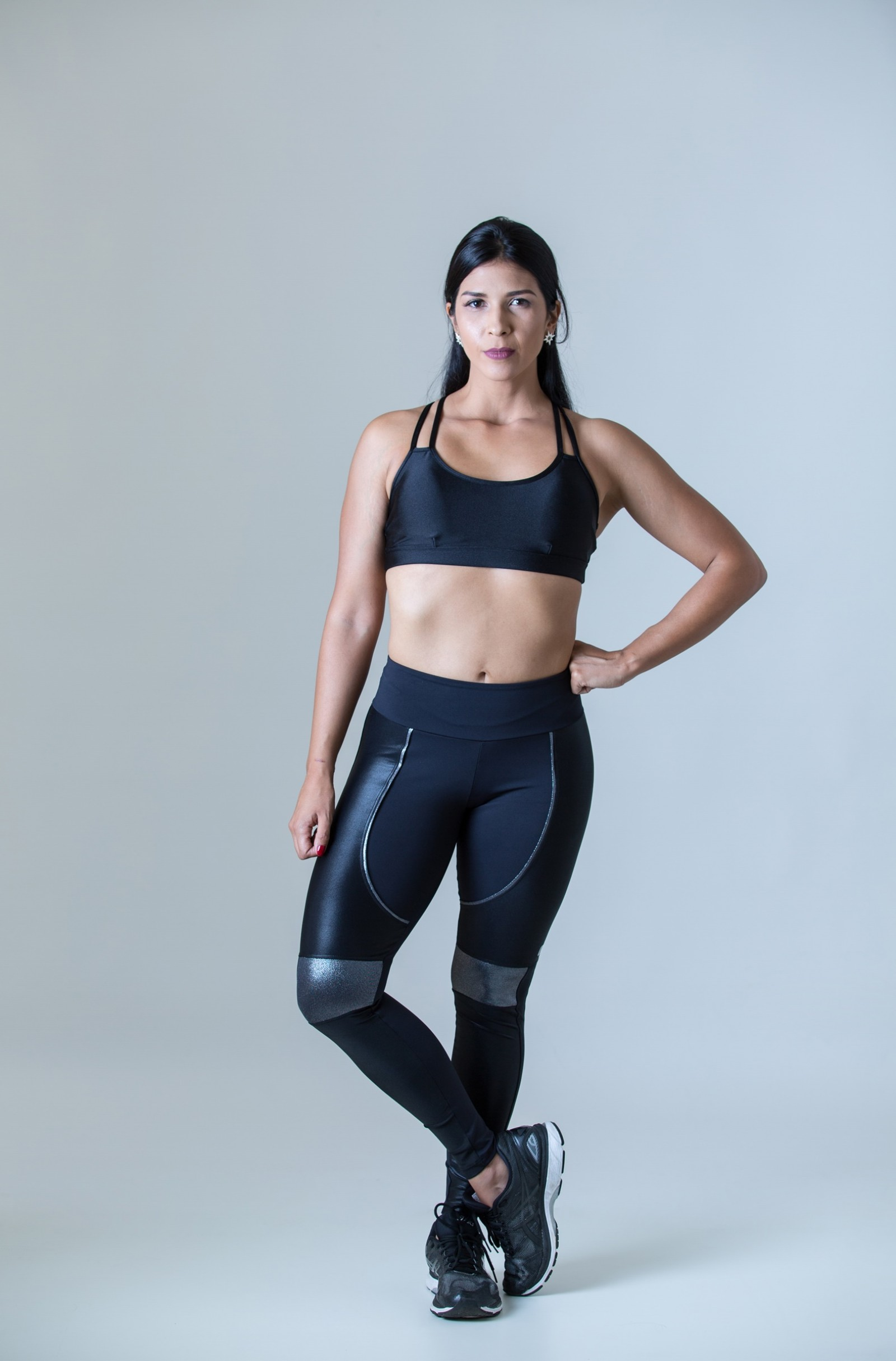 Top Perfection Preto Cirré, Coleção Plenitude - NKT Fitwear Moda Fitness