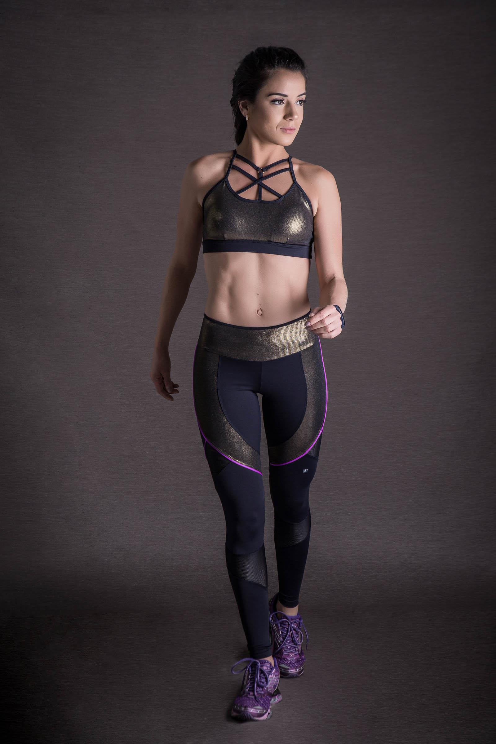 Top Infinity Dourado, Coleção You can - NKT Fitwear Moda Fitness