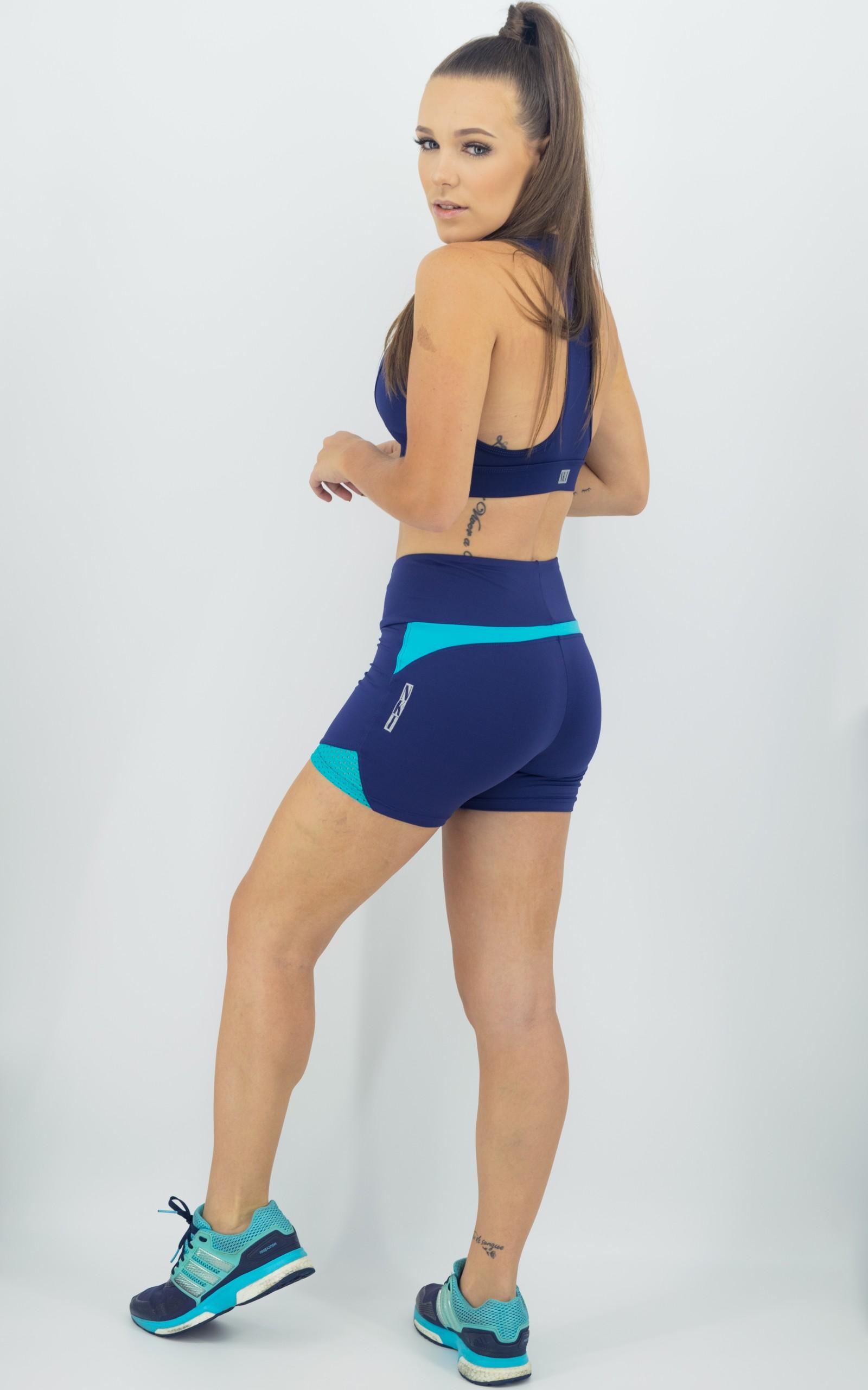 Shorts Life Confort Marinho, Coleção Move Your Body - NKT Fitwear Moda Fitness
