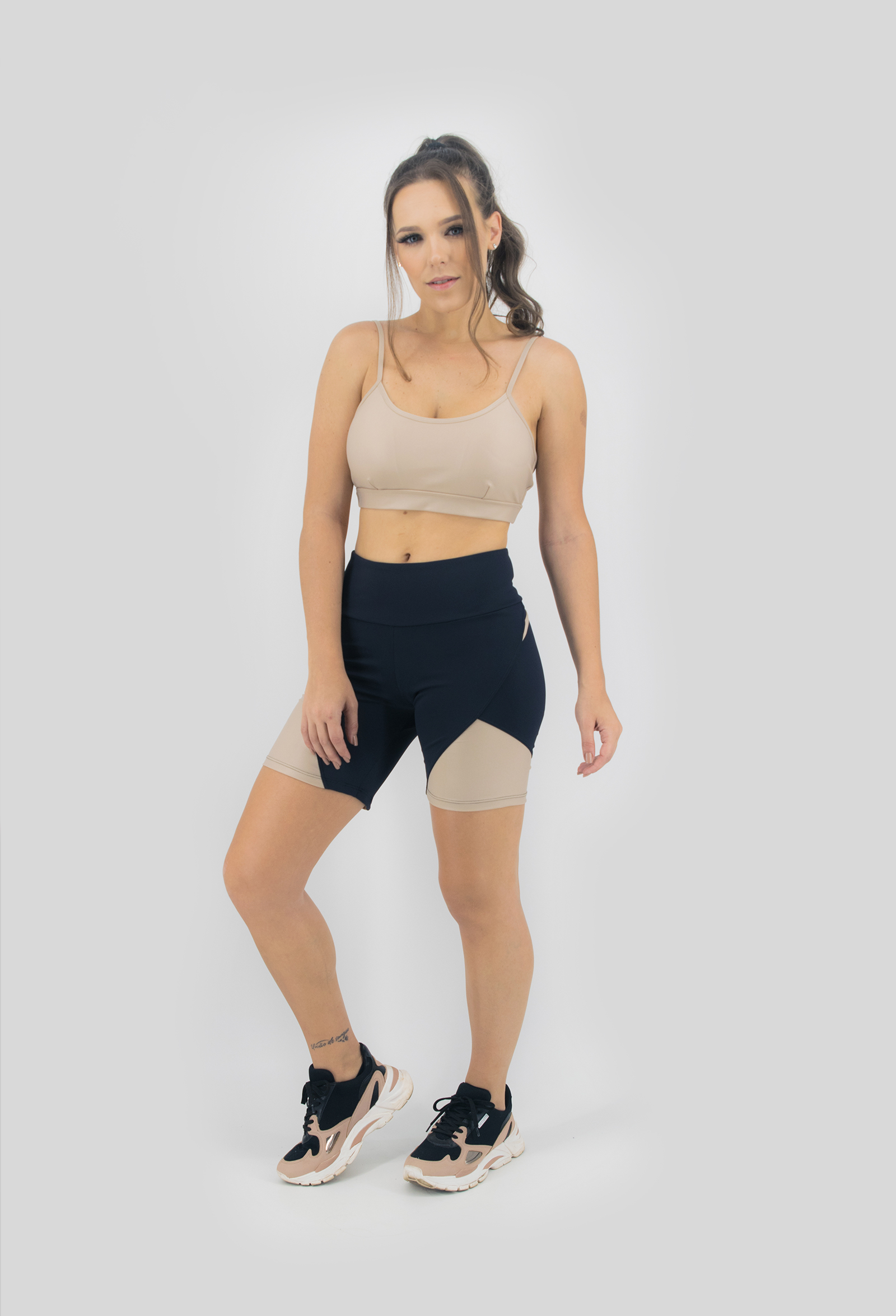 Top Profusion Nude, Coleção Move Your Body - NKT Fitwear Moda Fitness