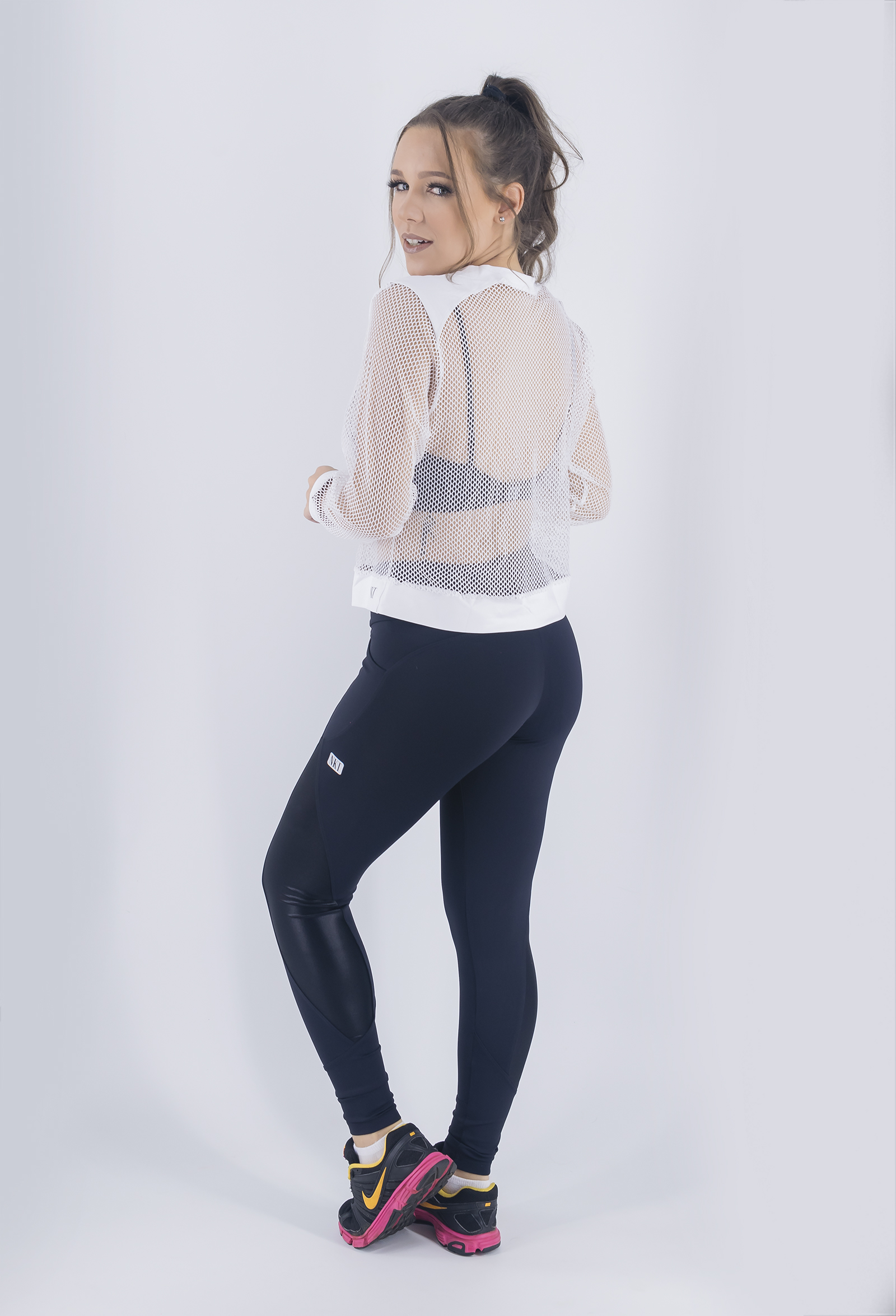 Manga Longa Join Branca, Coleção Just For You - NKT Fitwear Moda Fitness
