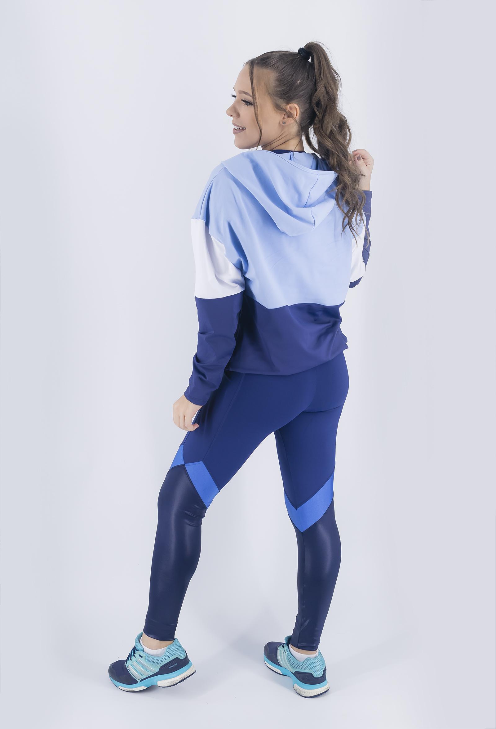Casaco Lovely Azul Céu, Coleção Just For You - NKT Fitwear Moda Fitness