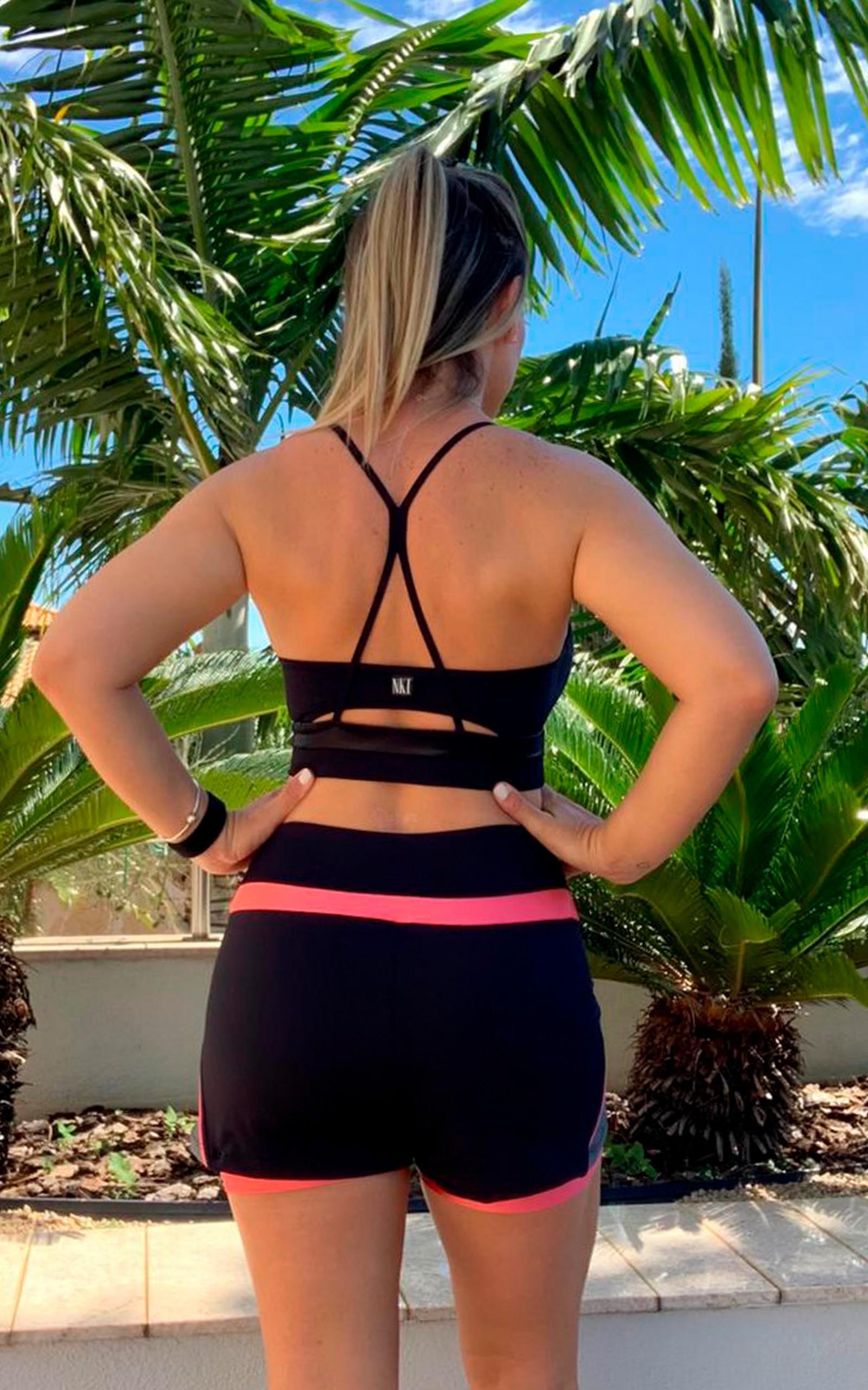 Top Spring Preto, Coleção YOURSELF - NKT Fitwear Moda Fitness