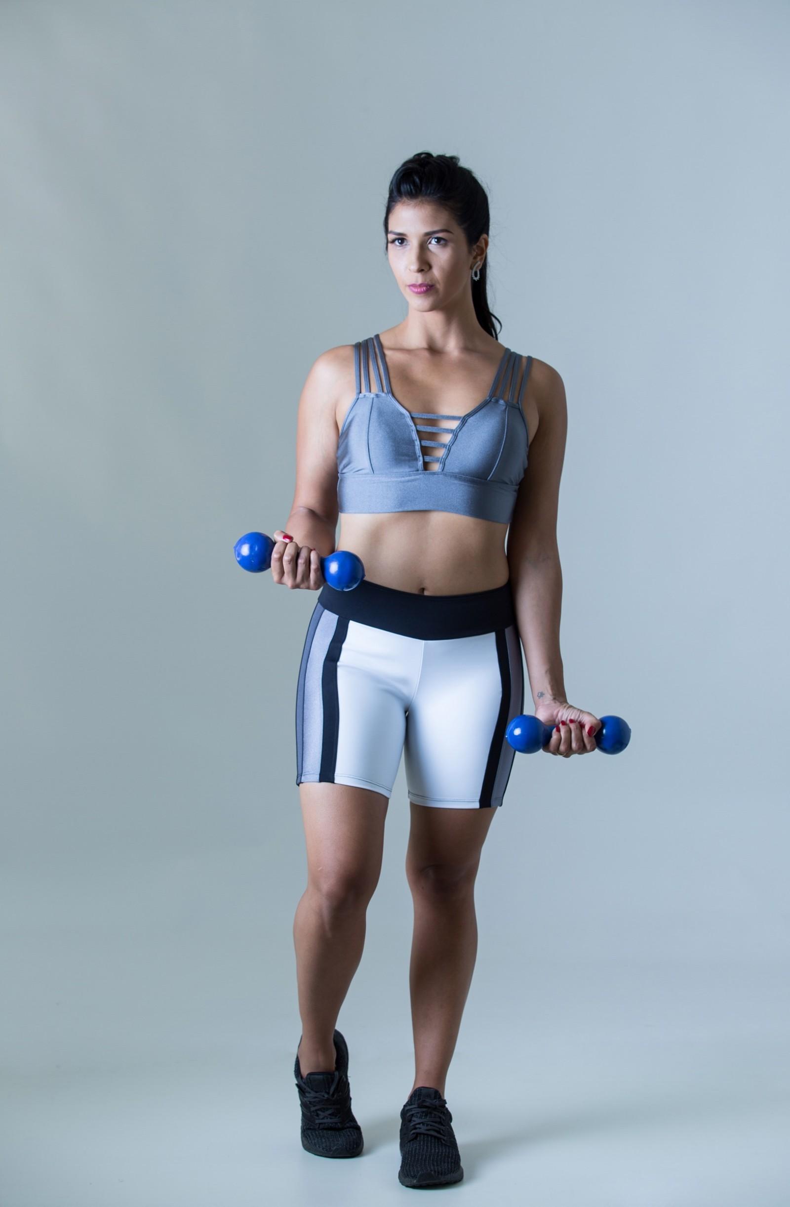 Top Fun Cinza Plat, Coleção Plenitude - NKT Fitwear Moda Fitness